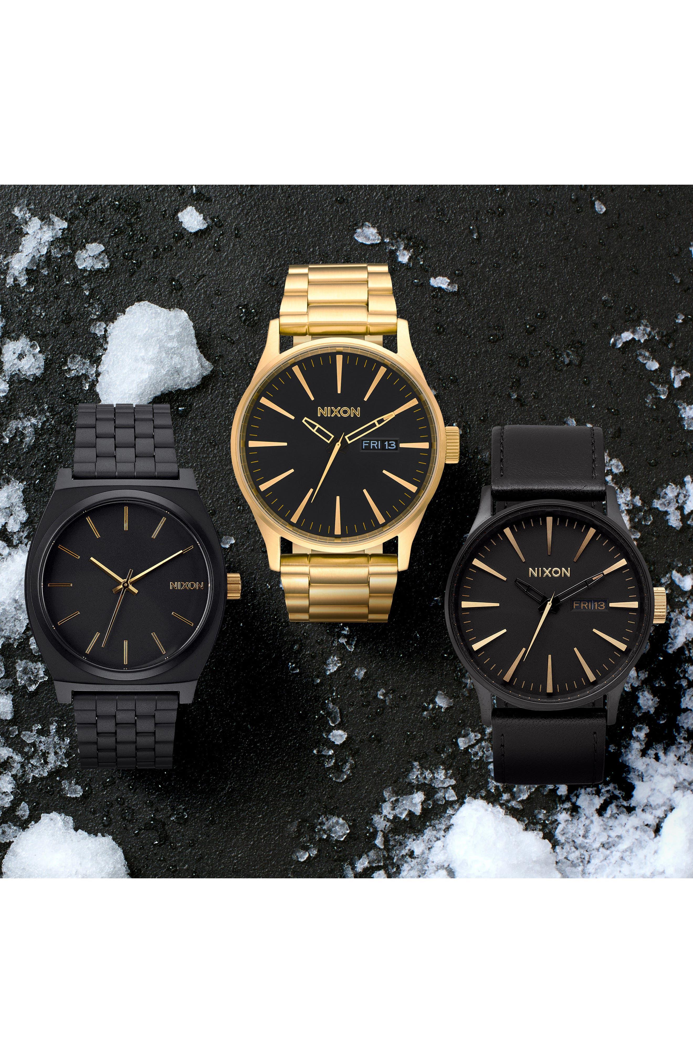 Sentry Bracelet Watch, 42mm,                             Alternate thumbnail 6, color,                             Gold/ Black