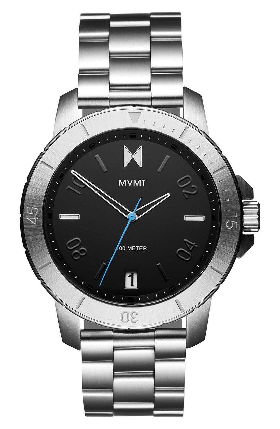 Modern Sport Bracelet Watch, 42mm,                         Main,                         color, Black/ Silver