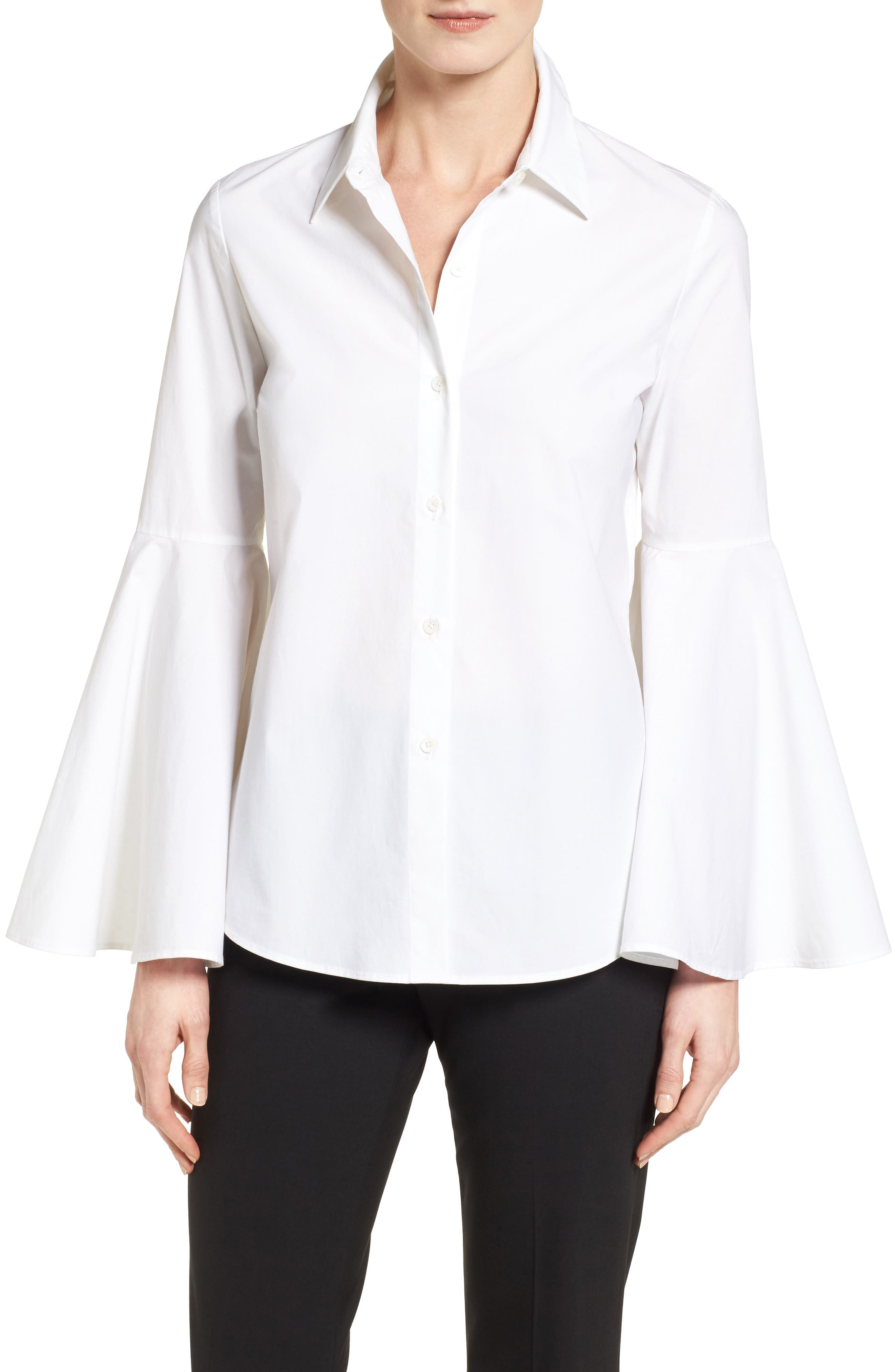 Alternate Image 1 Selected - Vince Camuto Bell Sleeve Shirt (Regular & Petite)