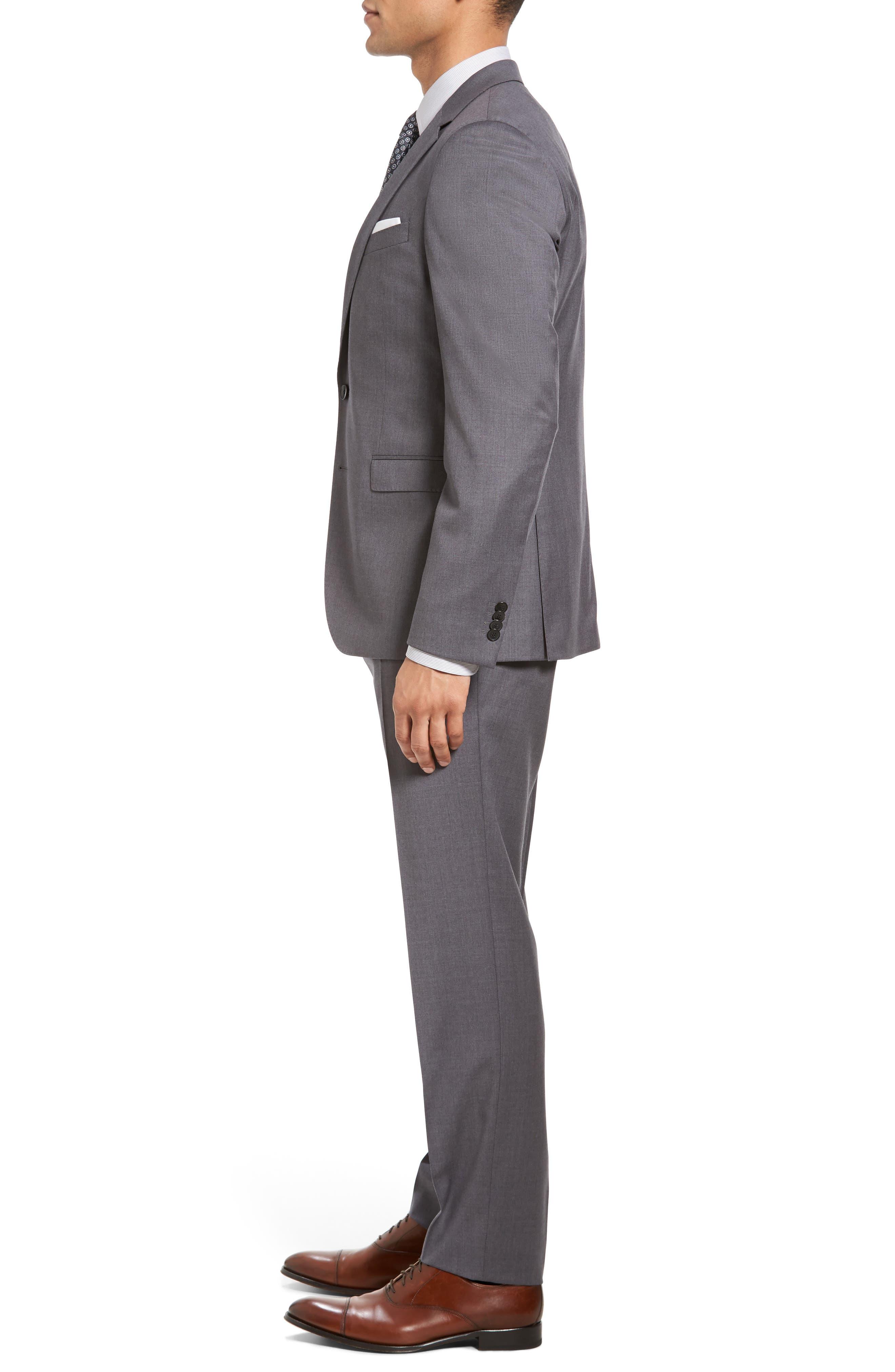 Ryan/Win Trim Fit Solid Wool Suit,                             Alternate thumbnail 4, color,                             Medium Grey
