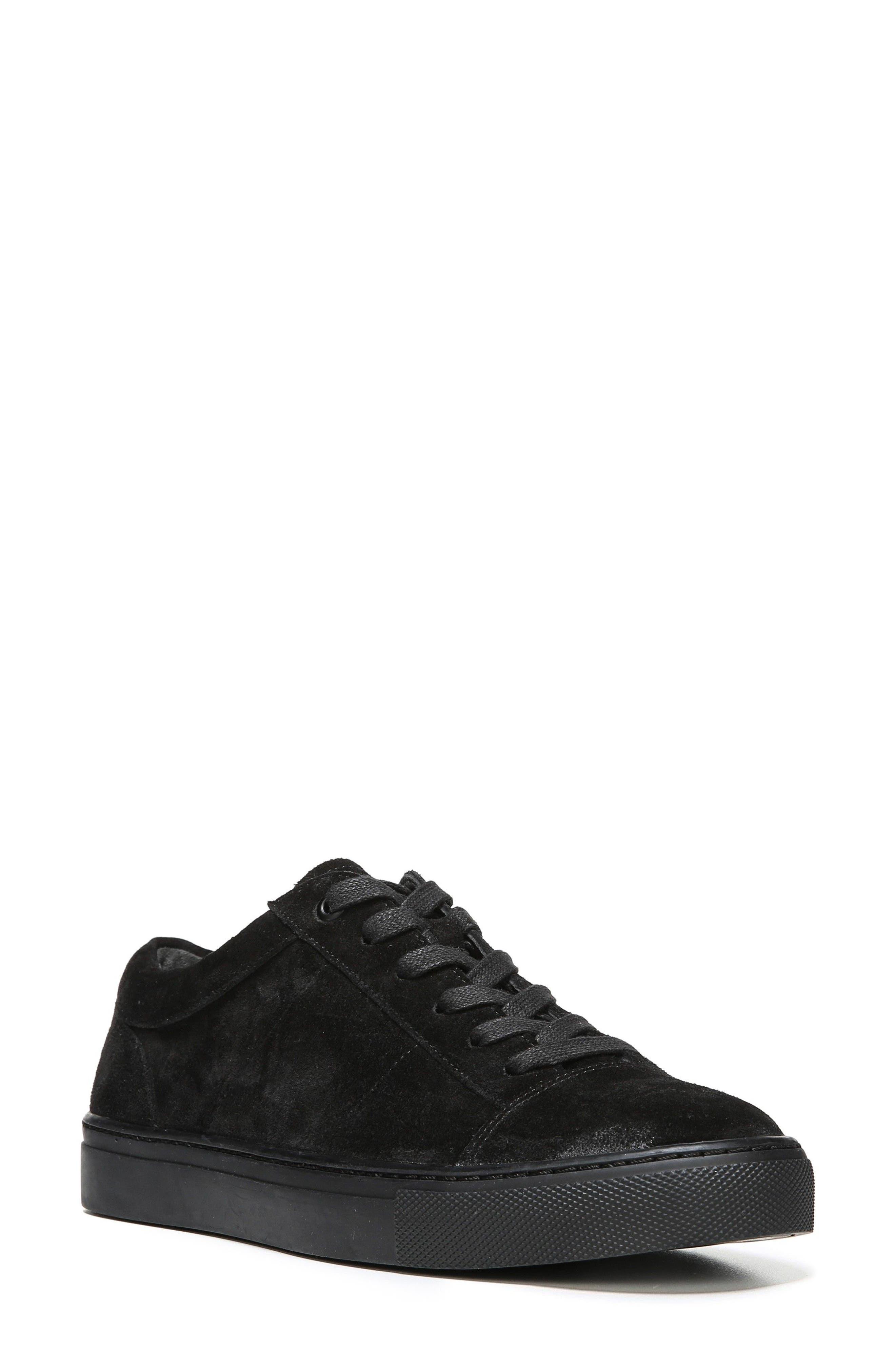 Afton Sneaker,                         Main,                         color, Black Suede