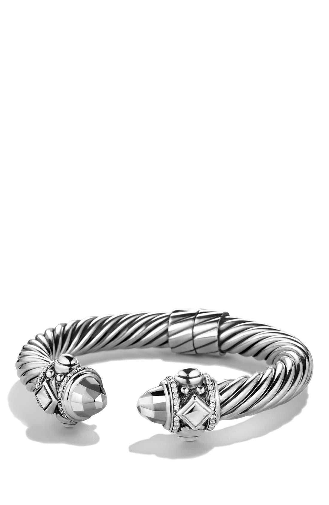 Alternate Image 1 Selected - David Yurman 'Renaissance' Bracelet with Black Diamonds