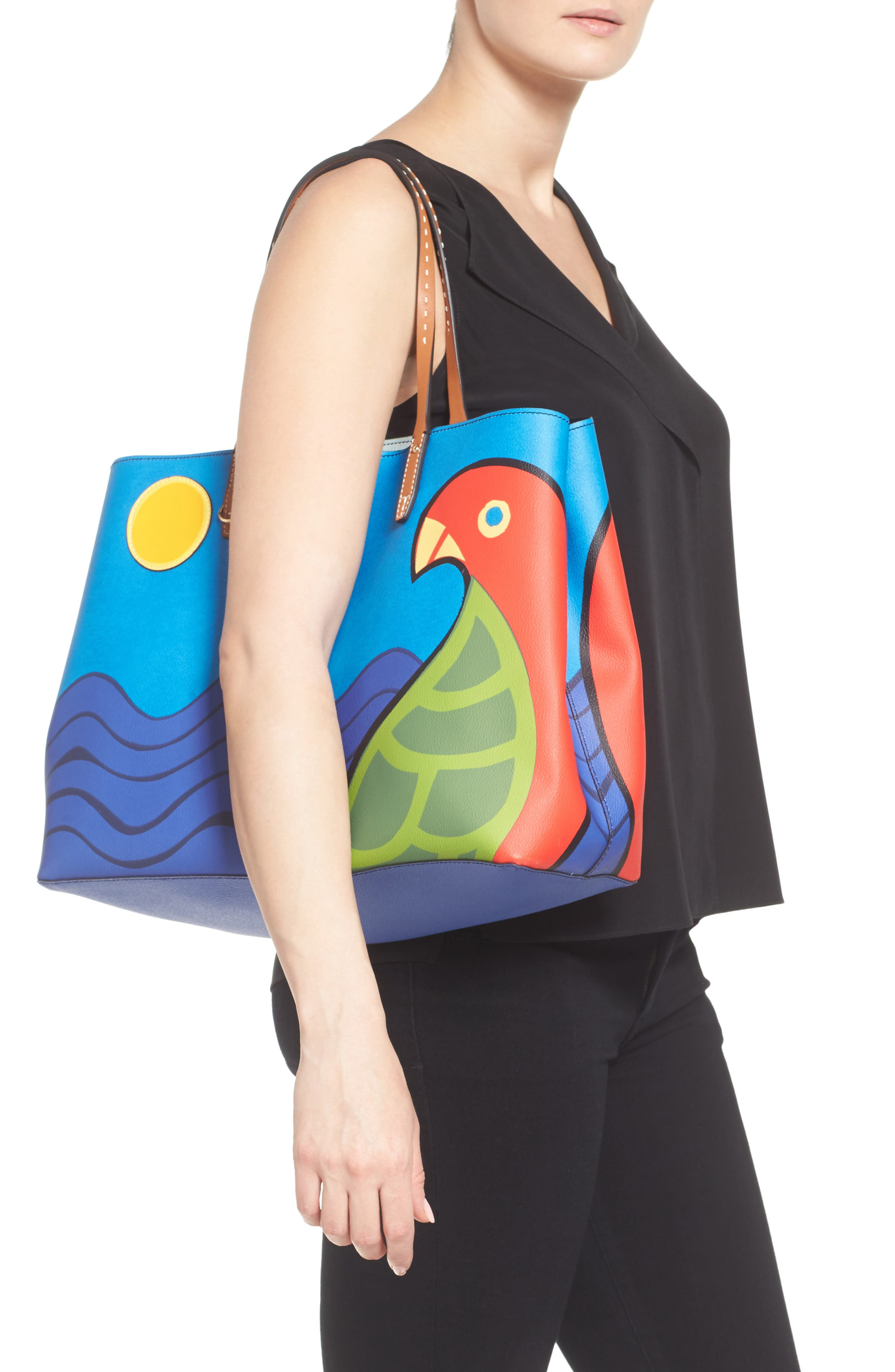 Alternate Image 2  - Tory Burch Kerrington Parrot Coated Canvas Tote