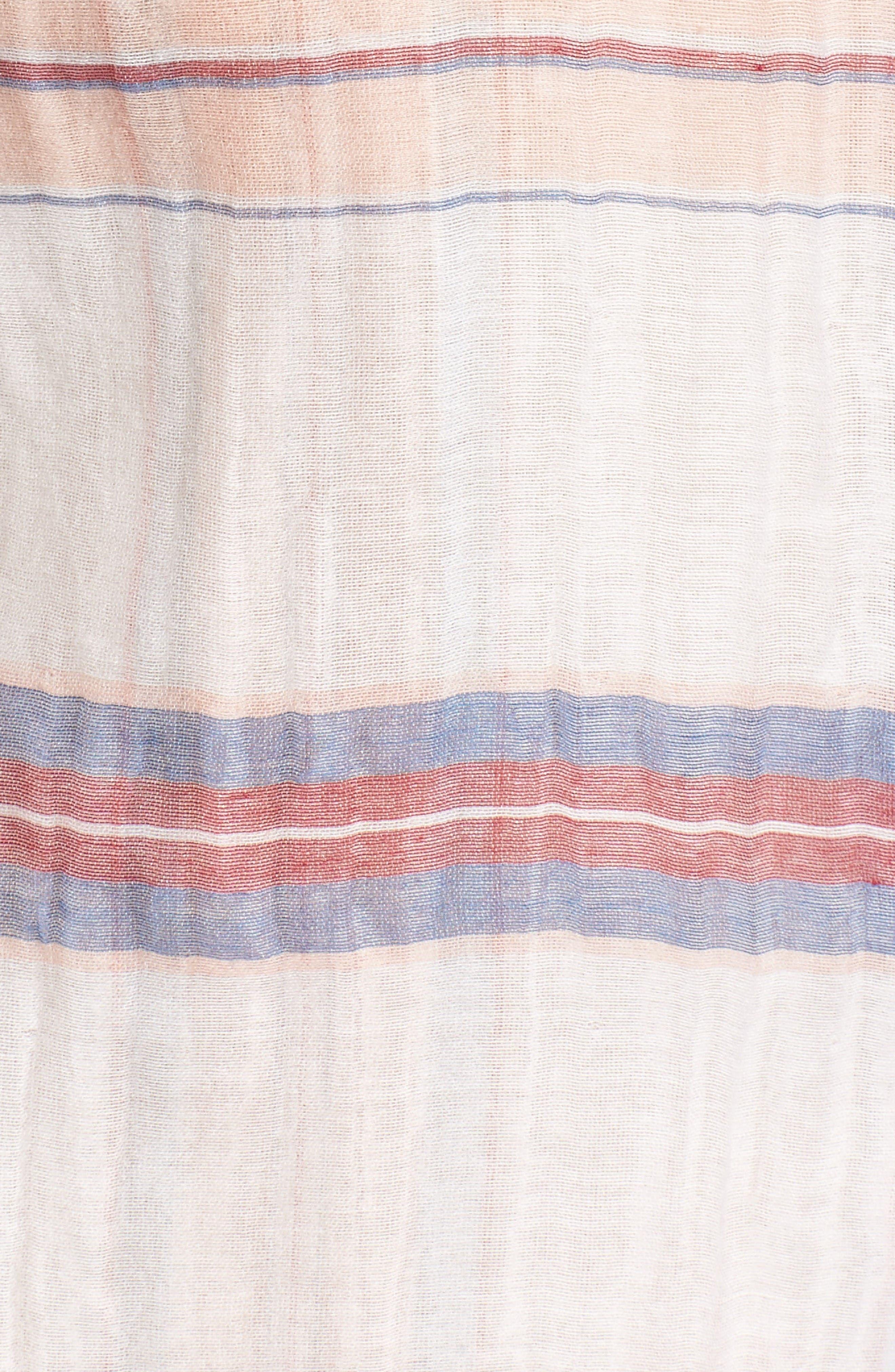 Costas Stripe Cotton & Silk Shirt,                             Alternate thumbnail 5, color,                             White