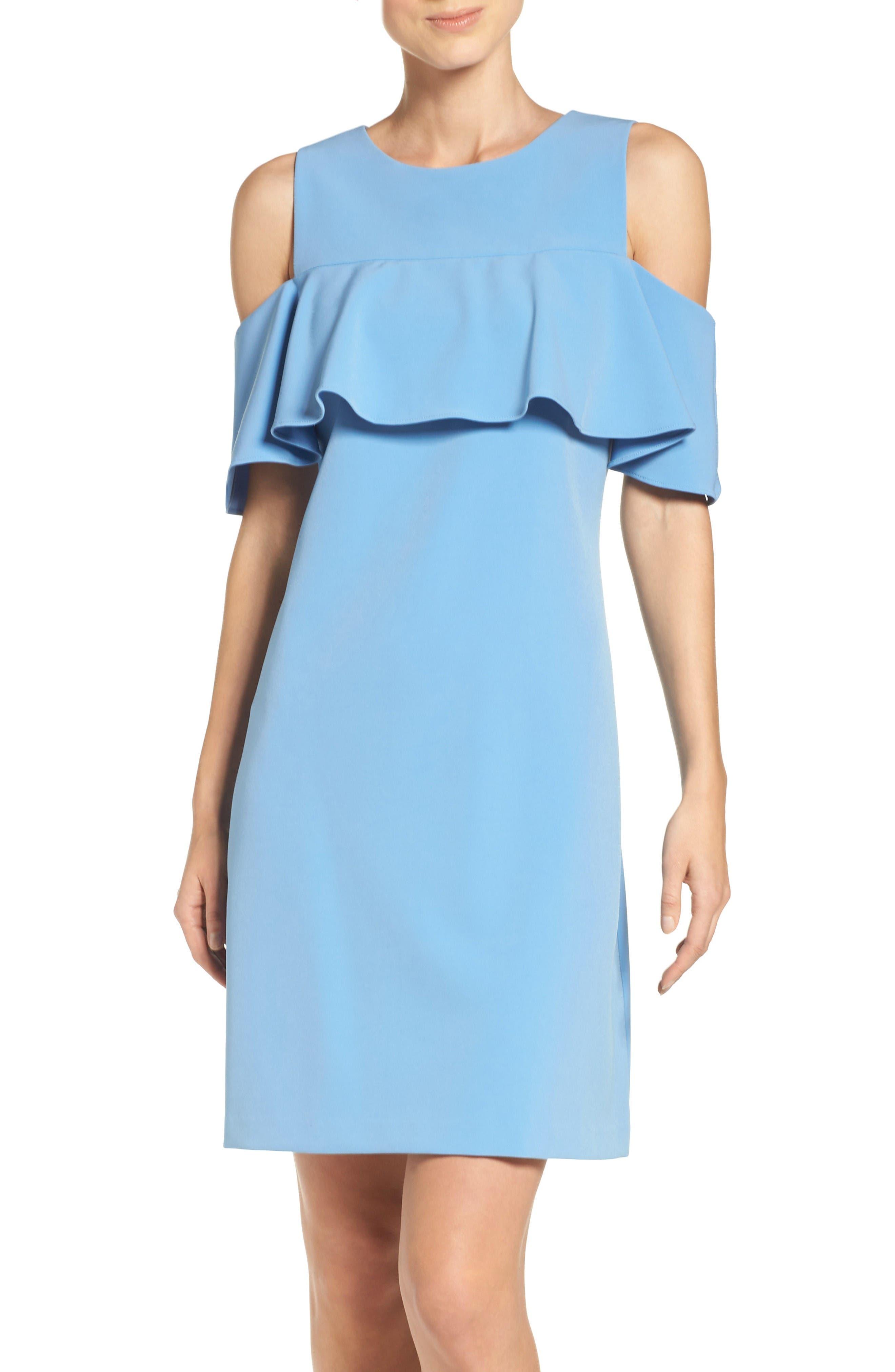 Alternate Image 1 Selected - Taylor Dresses Cold Shoulder Sheath Dress