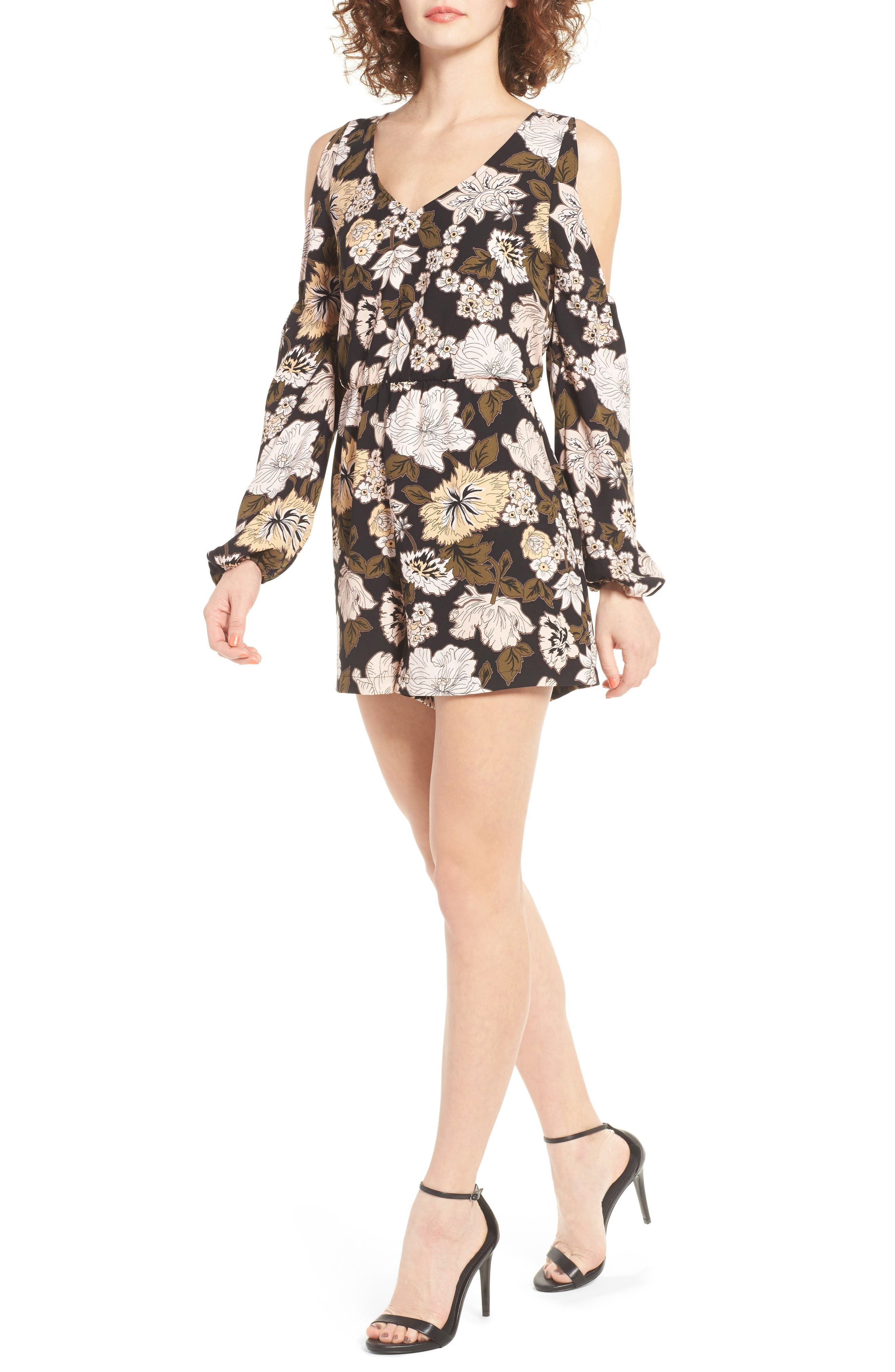 Main Image - Leith Floral Print Romper