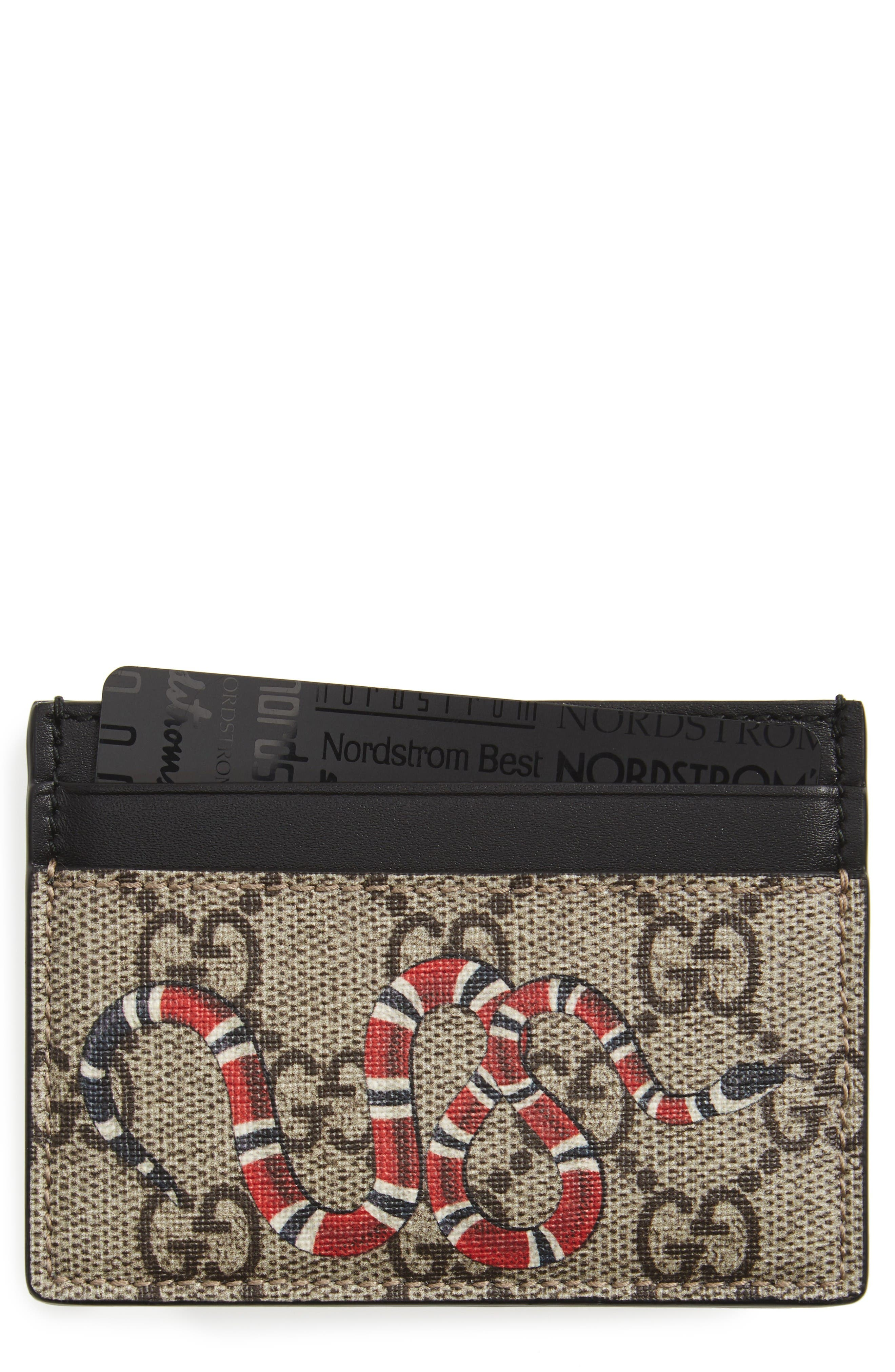 Gucci Serig Snake Print Card Case