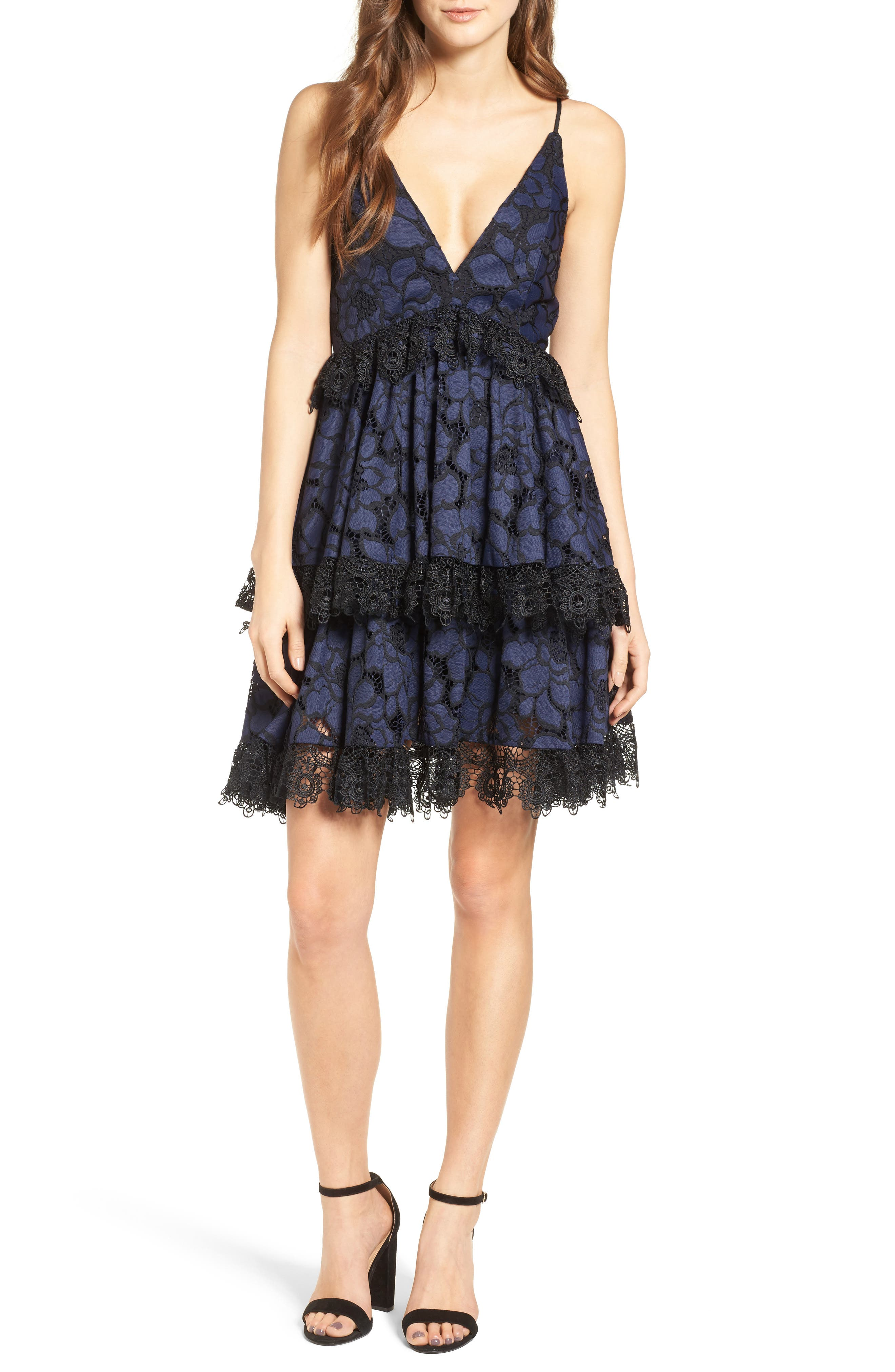 Main Image - KENDALL + KYLIE Lace Babydoll Dress