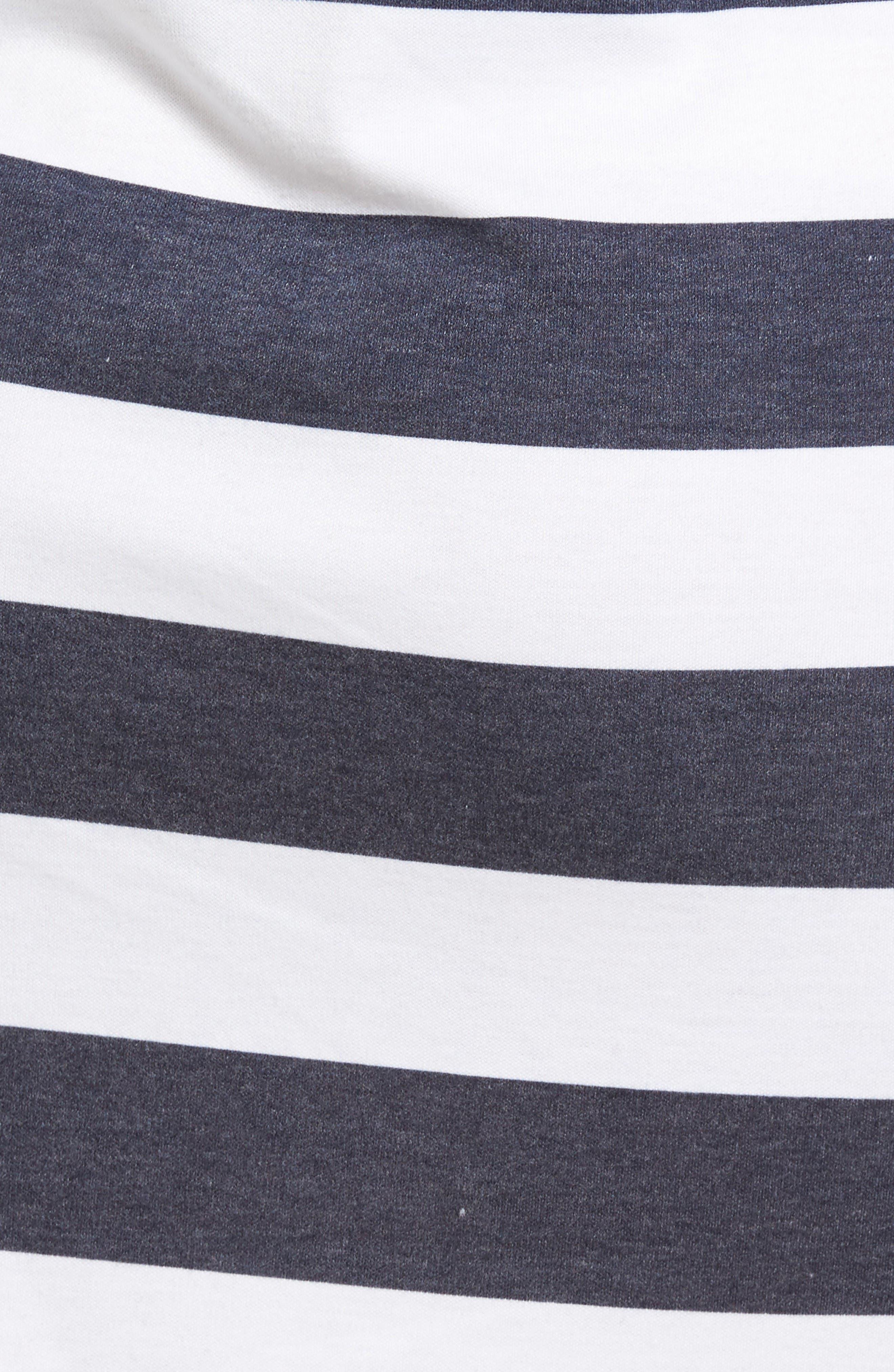 Alternate Image 5  - MICHAEL Michael Kors Rugby Stripe T-Shirt Dress (Regular & Petite)