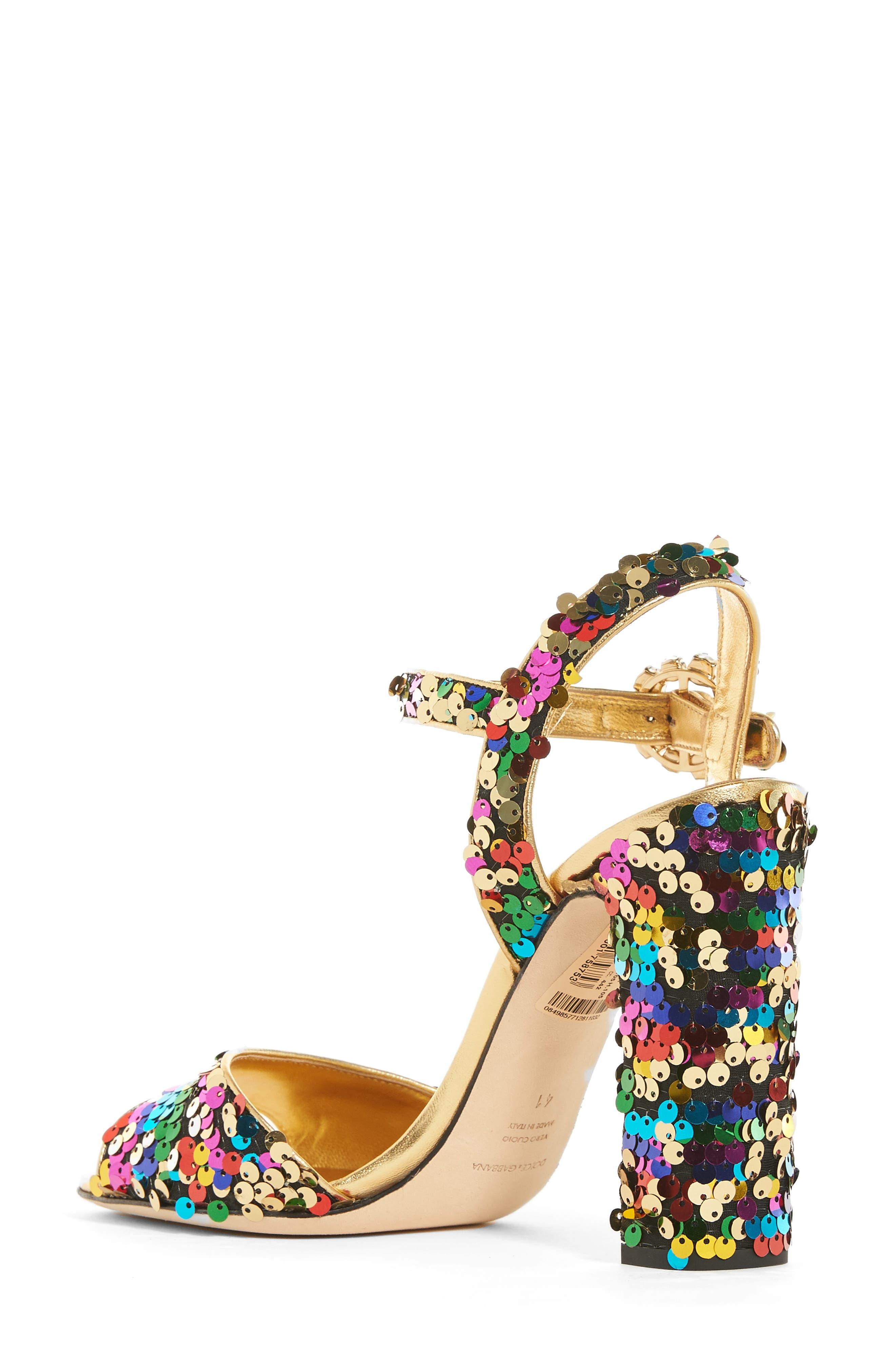 Alternate Image 2  - Dolce&Gabbana Sequin Sandal (Women)
