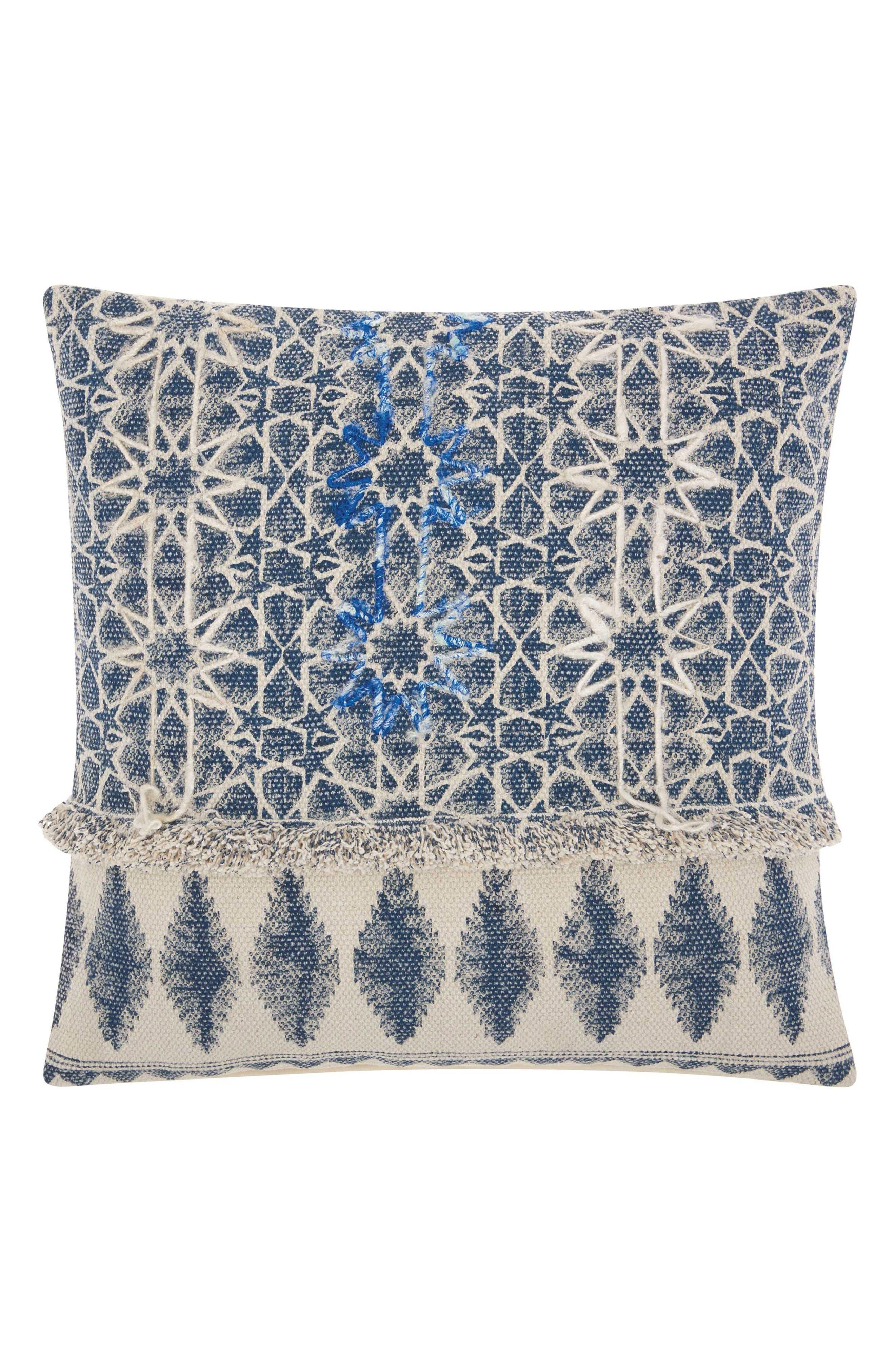 Mina Victory Stonewash Stars Accent Pillow