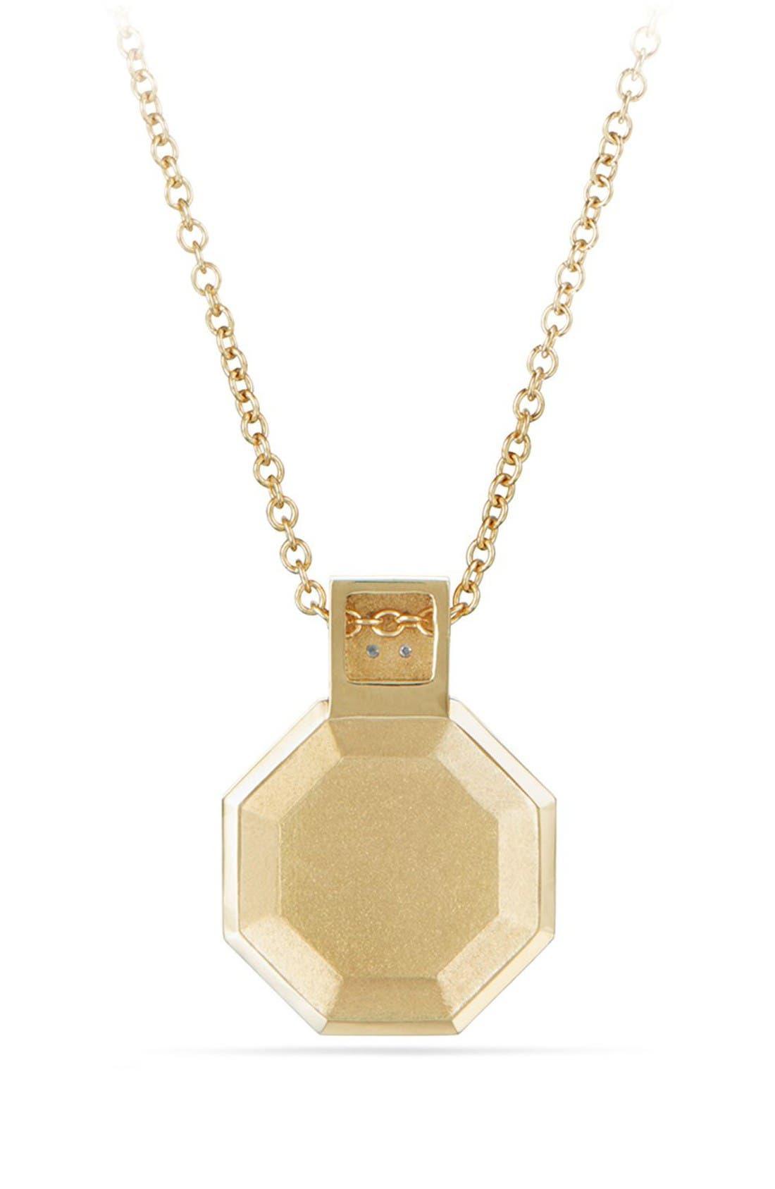 Guilin Octagon Pendant Necklace,                             Alternate thumbnail 2, color,                             Yellow Gold/ Diamond