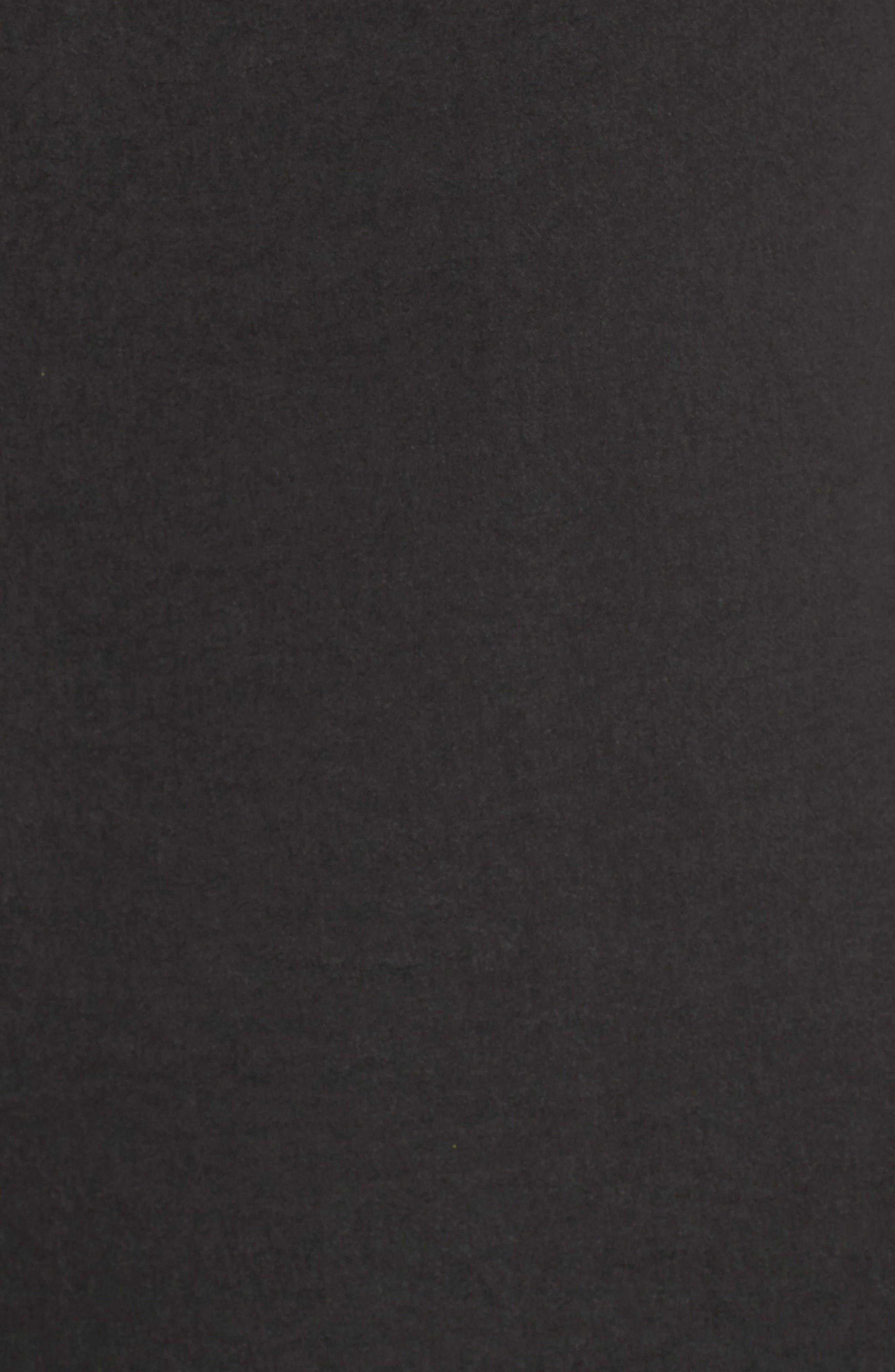Satin Ruffle One-Shoulder Top,                             Alternate thumbnail 6, color,                             Black