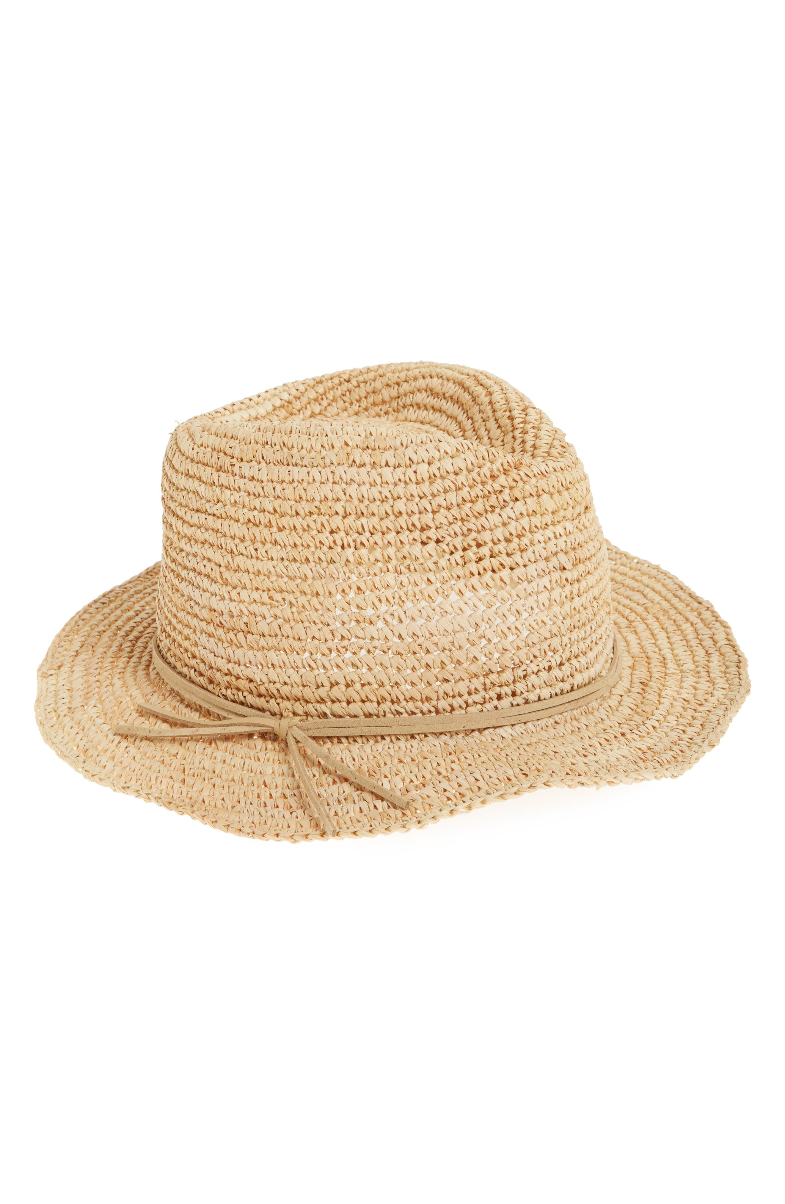Caslon Raffia Panama Hat,                             Main thumbnail 1, color,                             Natural Combo