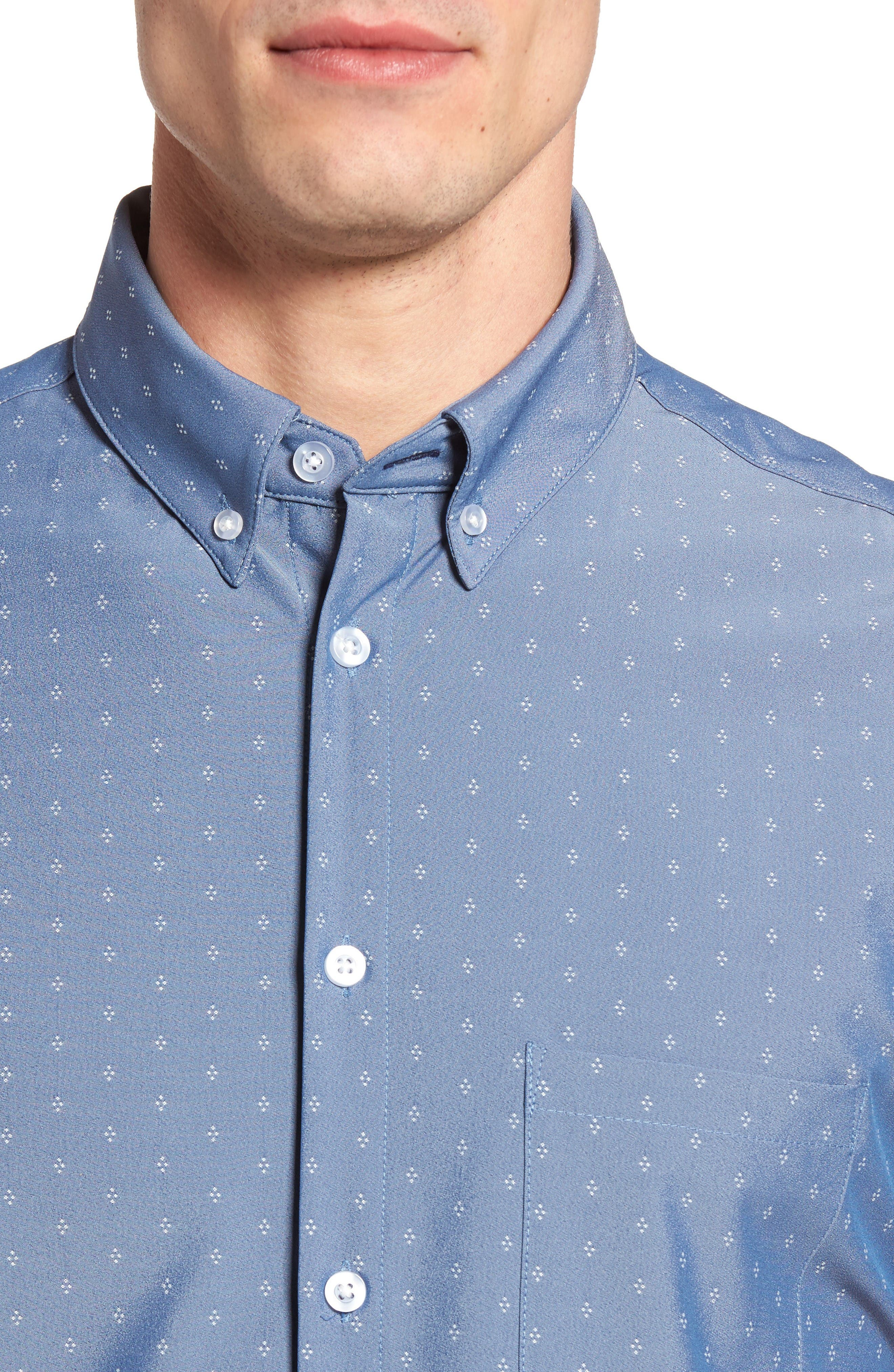 Alternate Image 4  - Mizzen+Main Kingston Poseidon Slim Fit Print Performance Sport Shirt