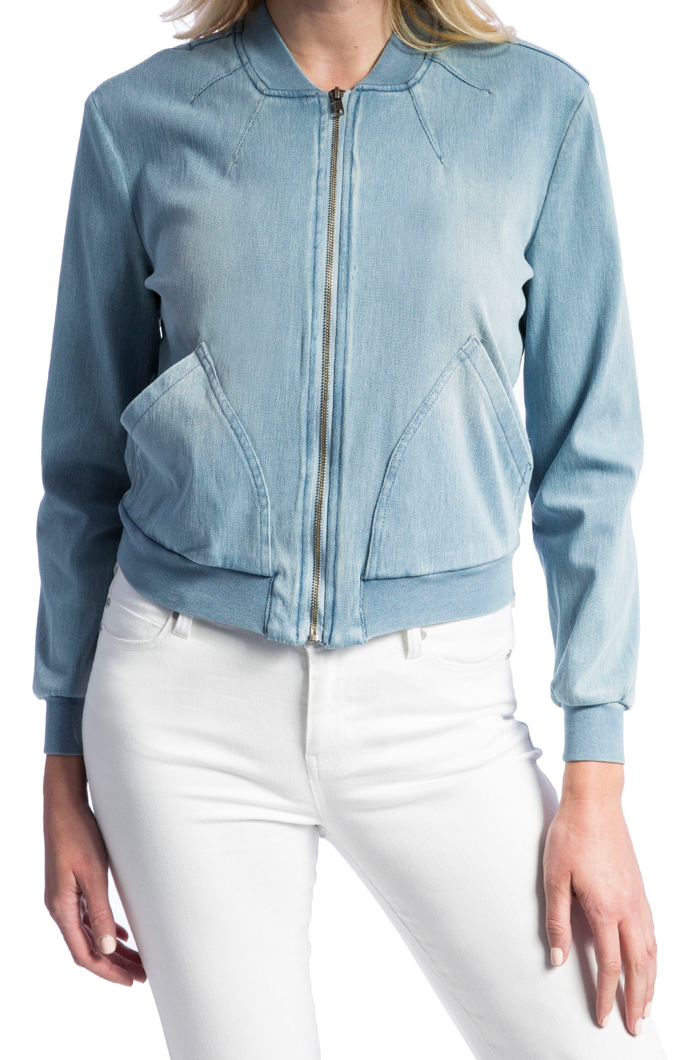 Liverpool Jeans Company Denim Knit Bomber Jacket