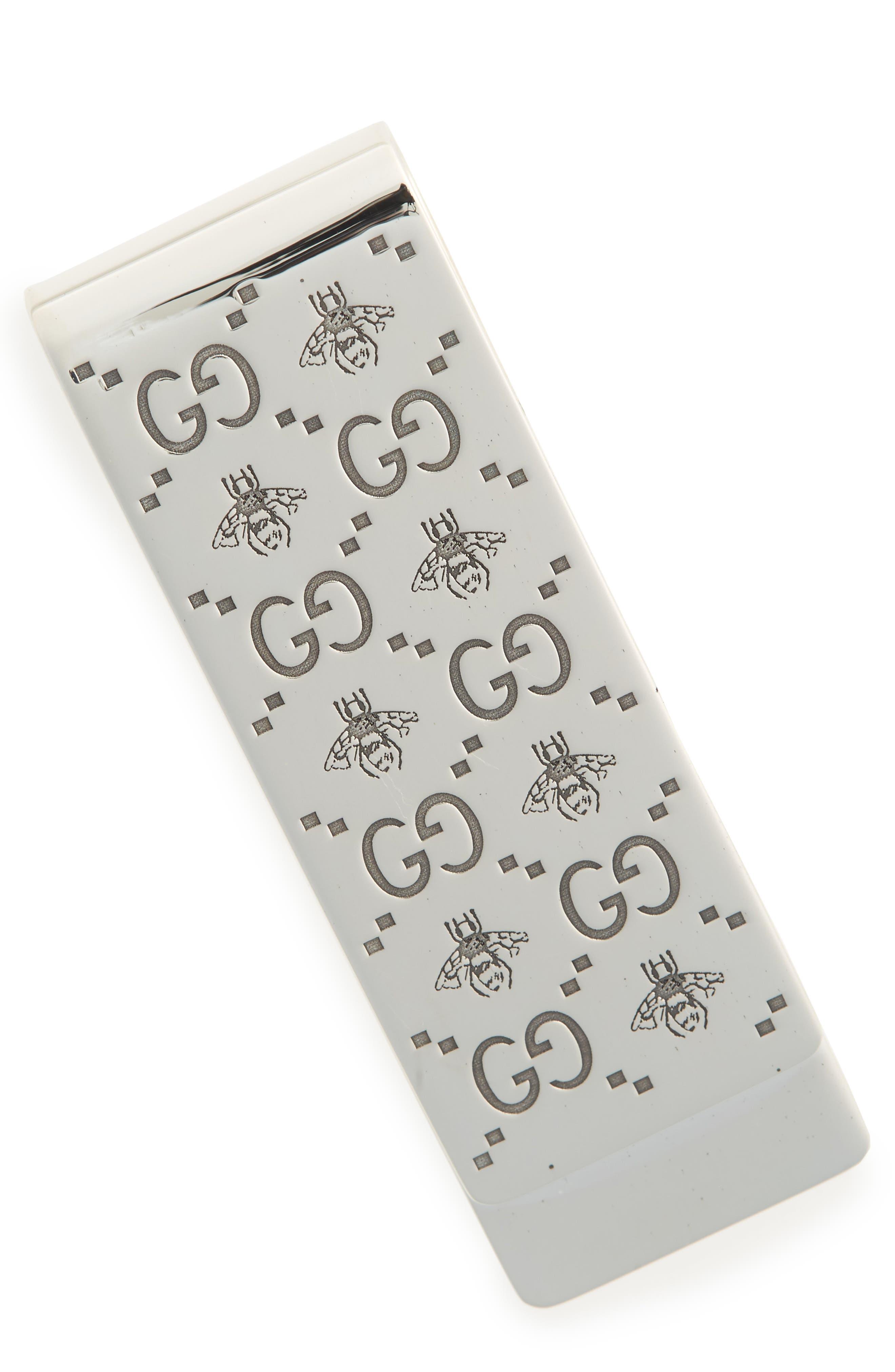 Bee Money Clip,                         Main,                         color, Silver