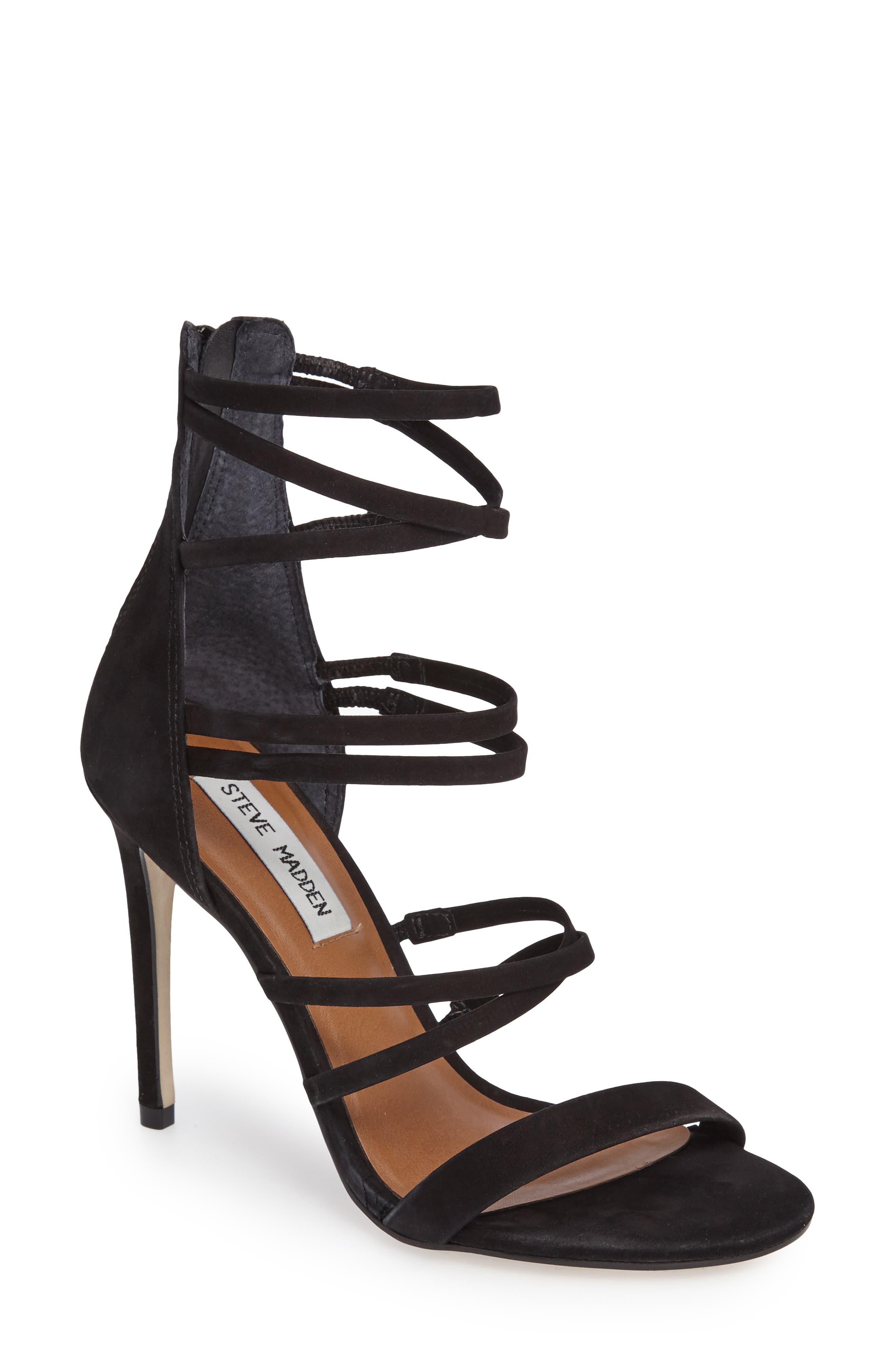 Tierney Sandal,                         Main,                         color, Black Nubuck Leather