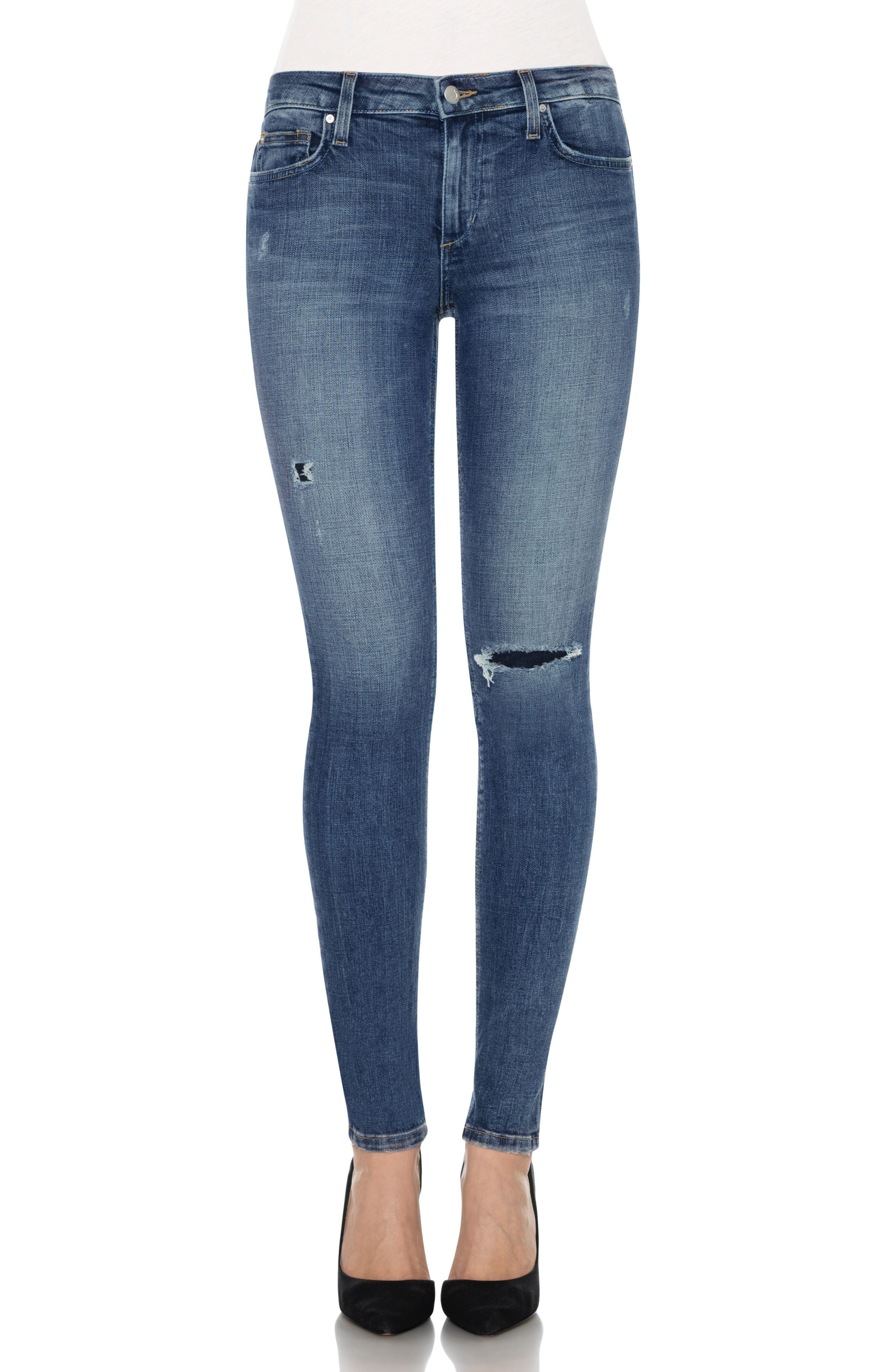 Icon Skinny Jeans,                             Main thumbnail 1, color,                             Neelam