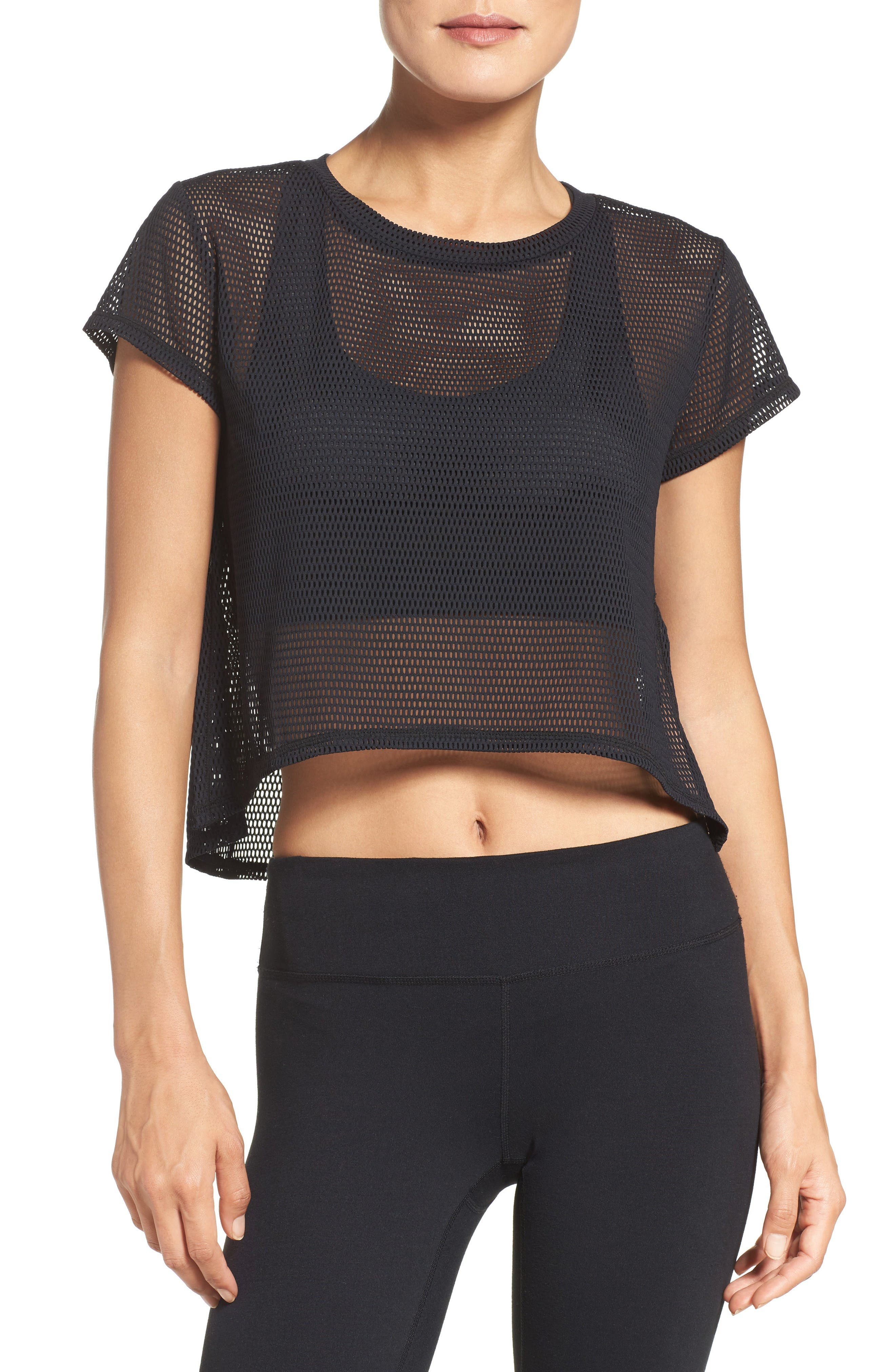 Zella Meshin' Around Crop Tee