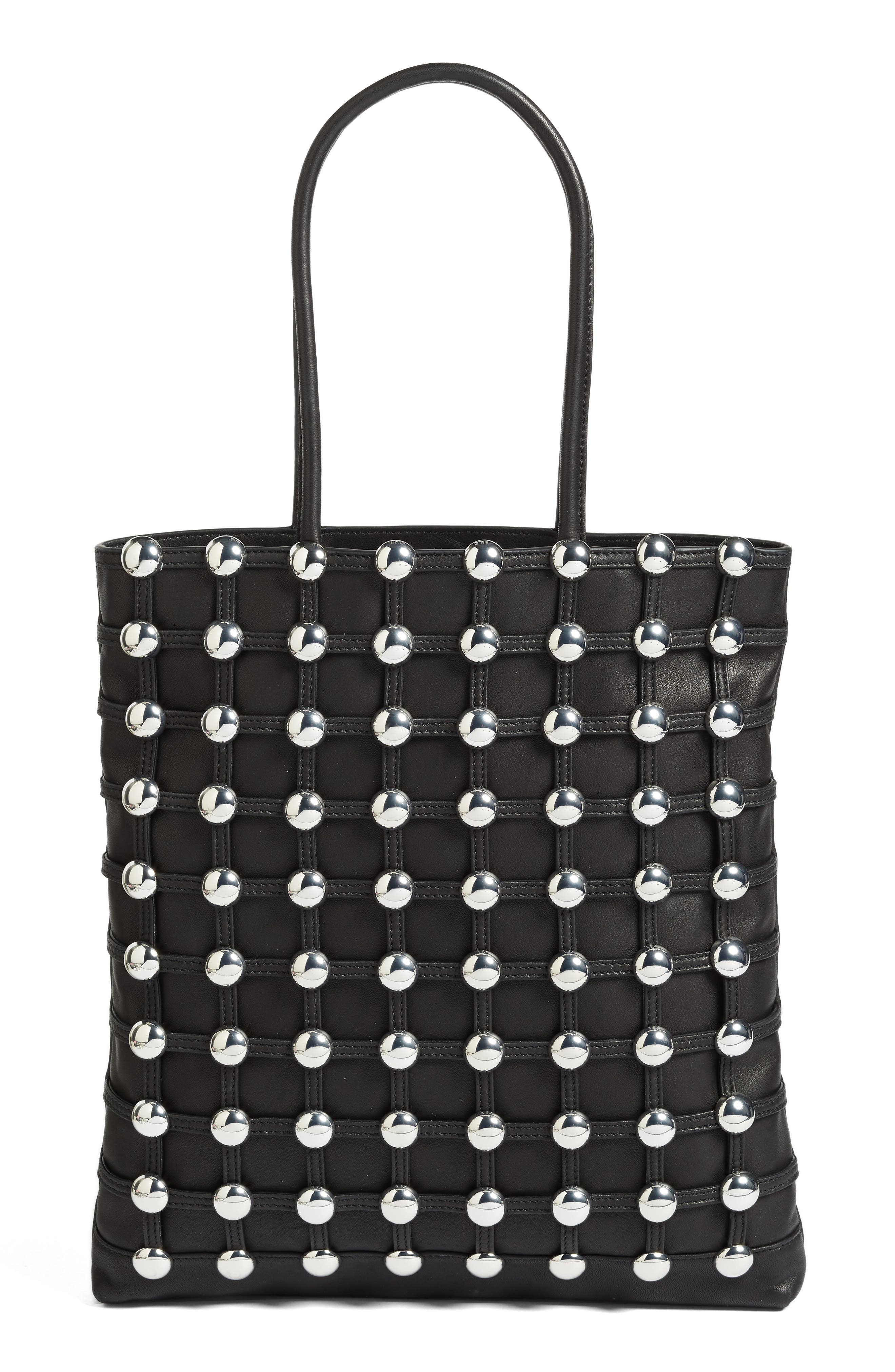 ALEXANDER WANG Studded Lambskin Leather Cage Tote