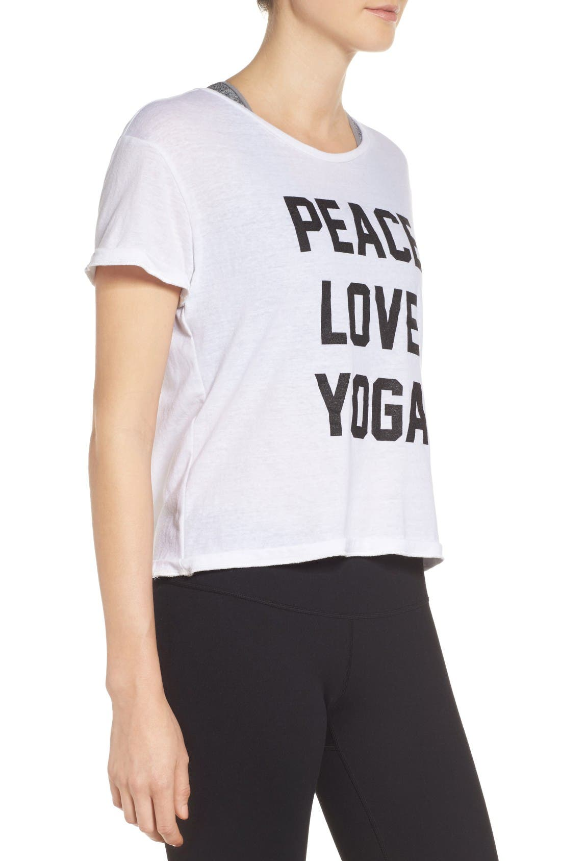 Alternate Image 3  - Private Party Peace Love Yoga Tee