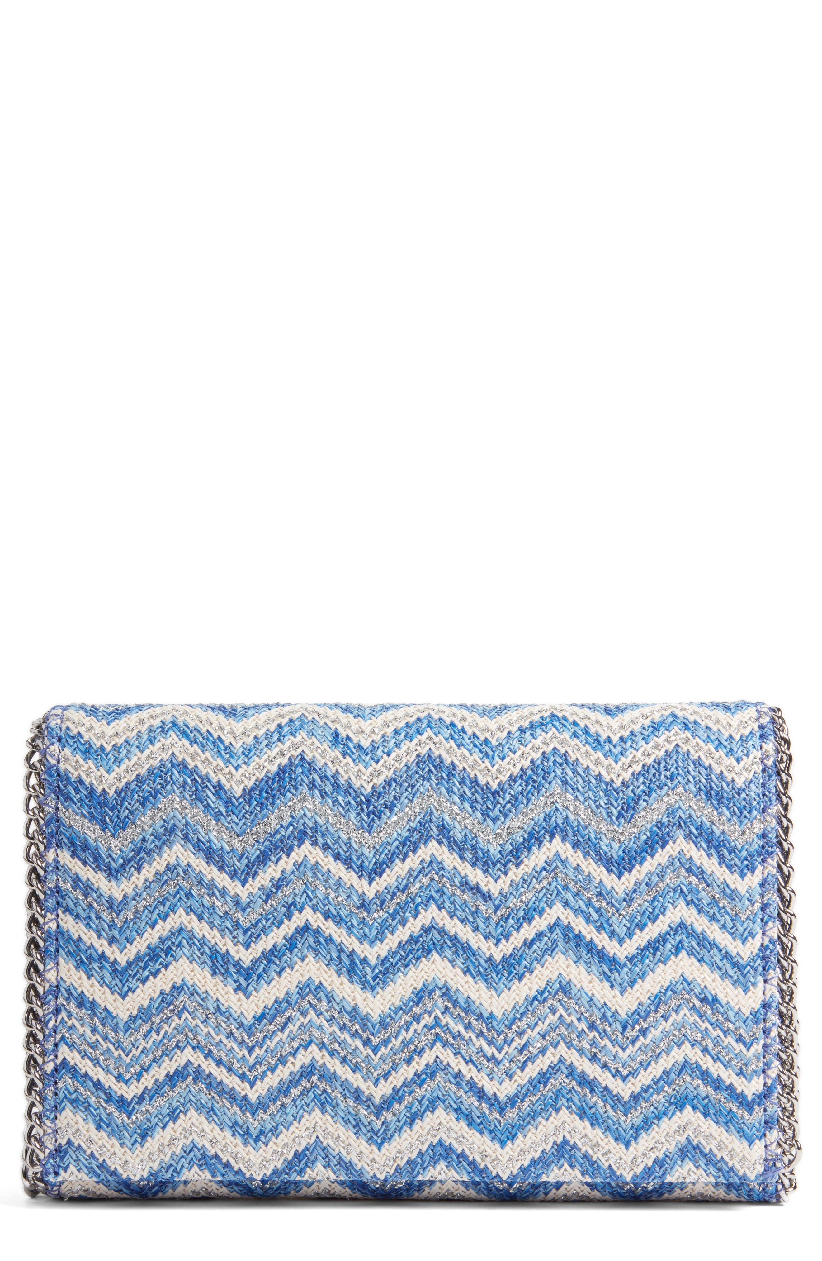Alternate Image 1 Selected - Chelsea28 Stripe Straw Convertible Clutch