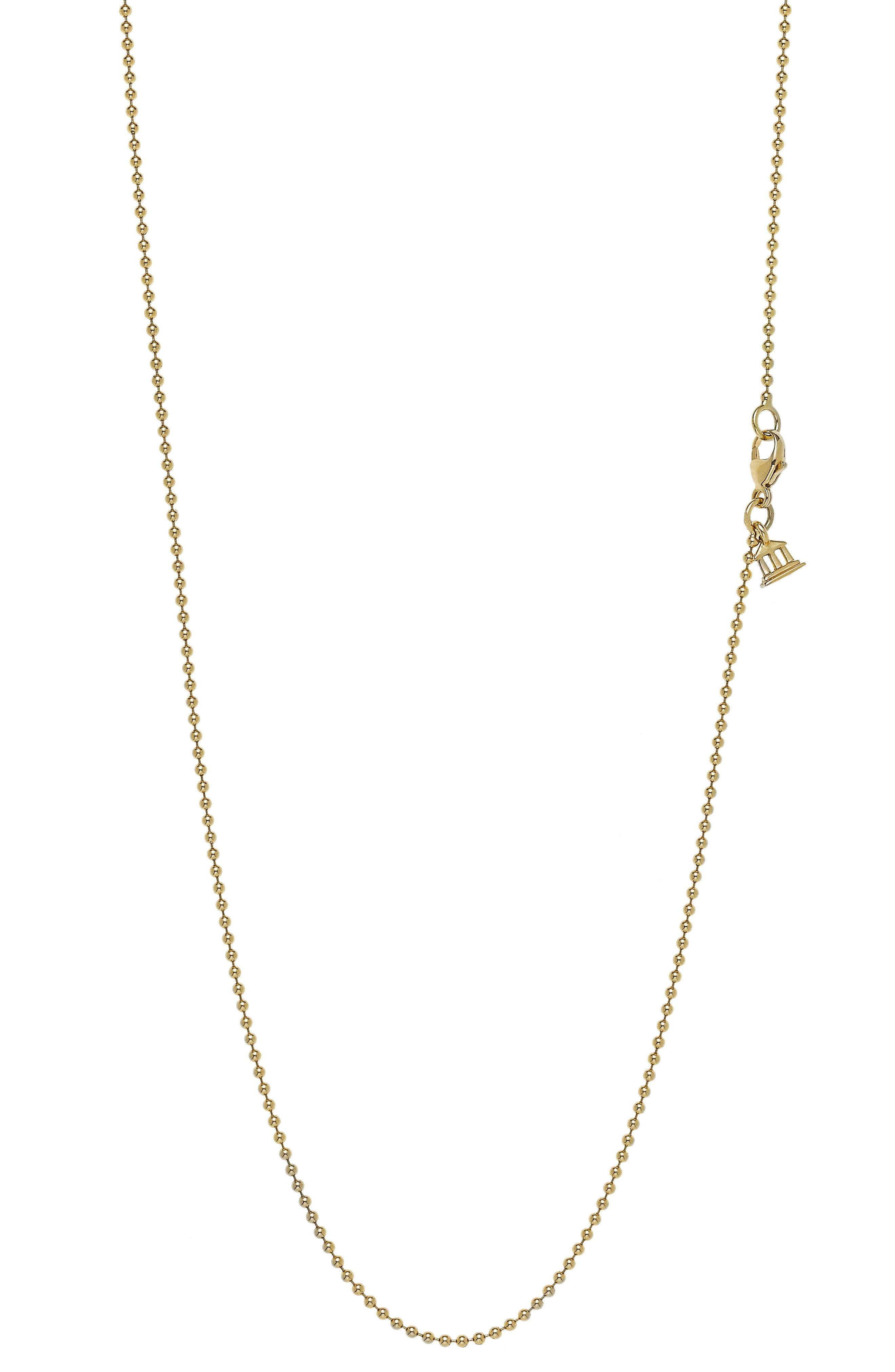 Temple St. Clair 18-Inch Ball Chain Necklace,                         Main,                         color, 18Kyg