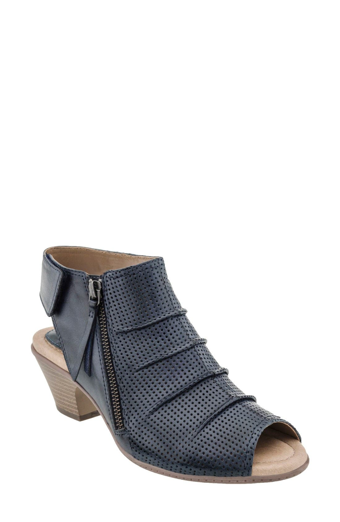Hydra Sandal,                             Main thumbnail 1, color,                             Admiral Blue Soft Leather
