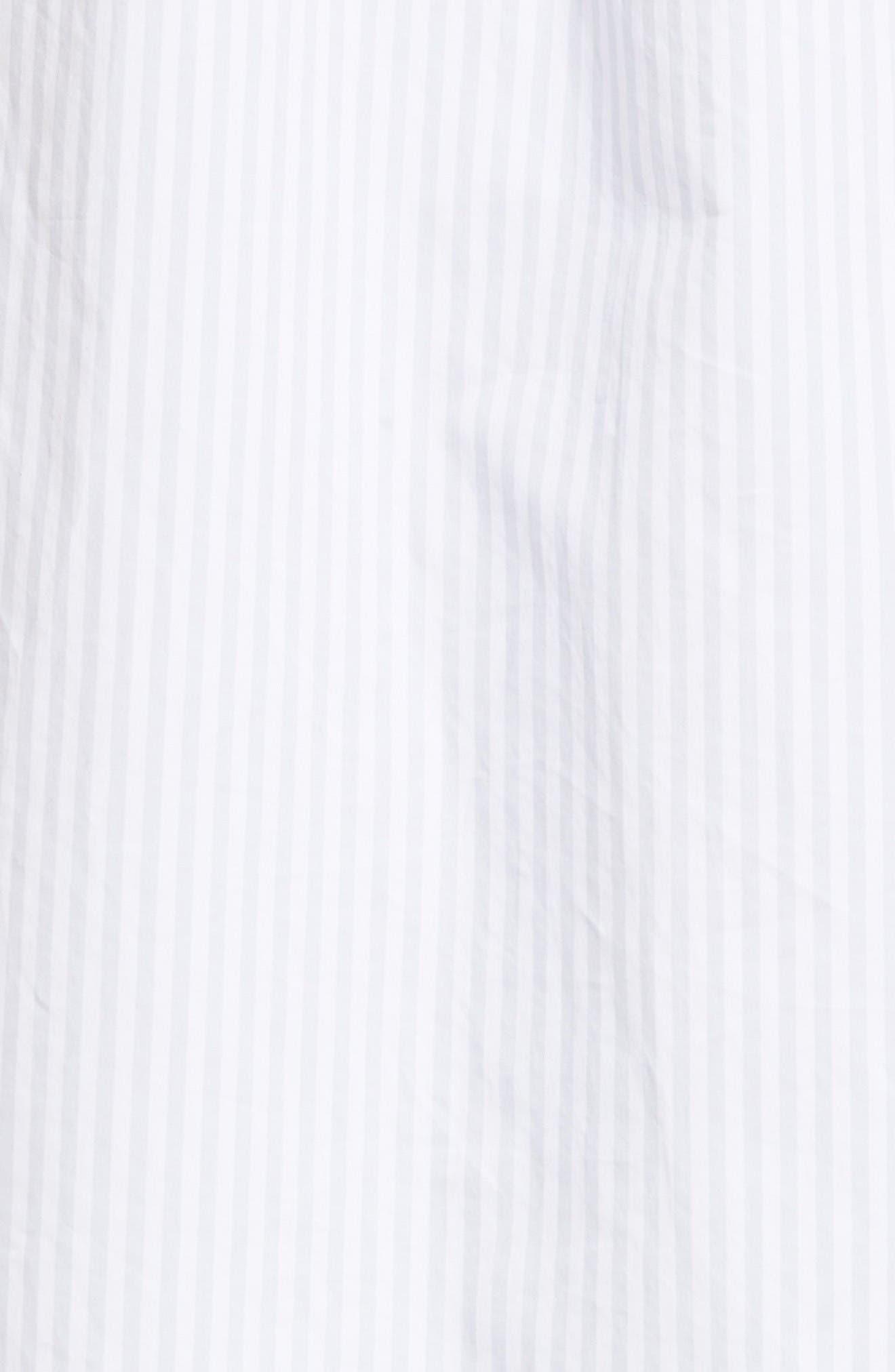 Mirelle Stripe Cotton Shirtdress,                             Alternate thumbnail 5, color,                             Bt Wht-Bri
