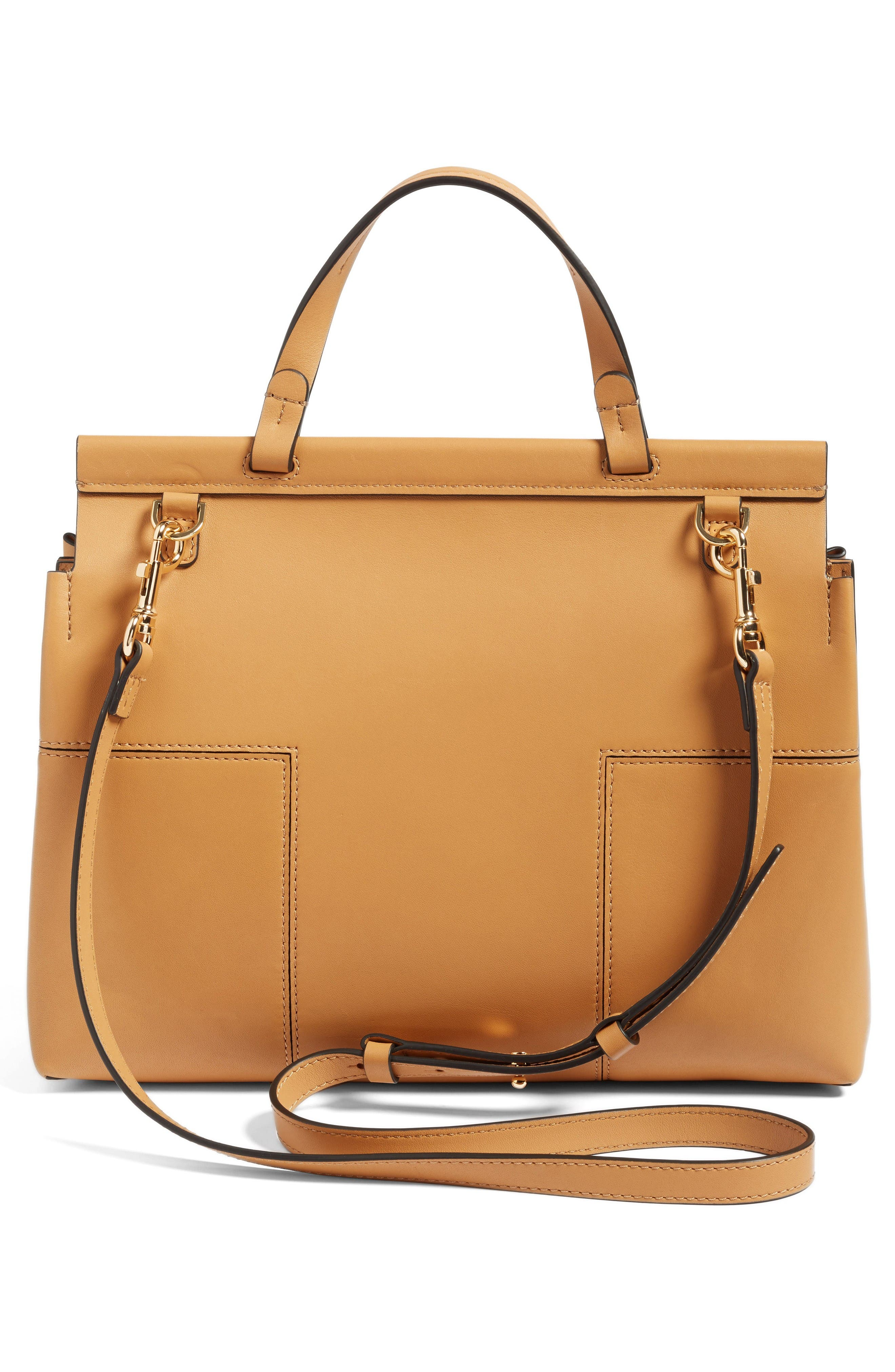 Alternate Image 3  - Tory Burch Block T Leather Top Handle Satchel