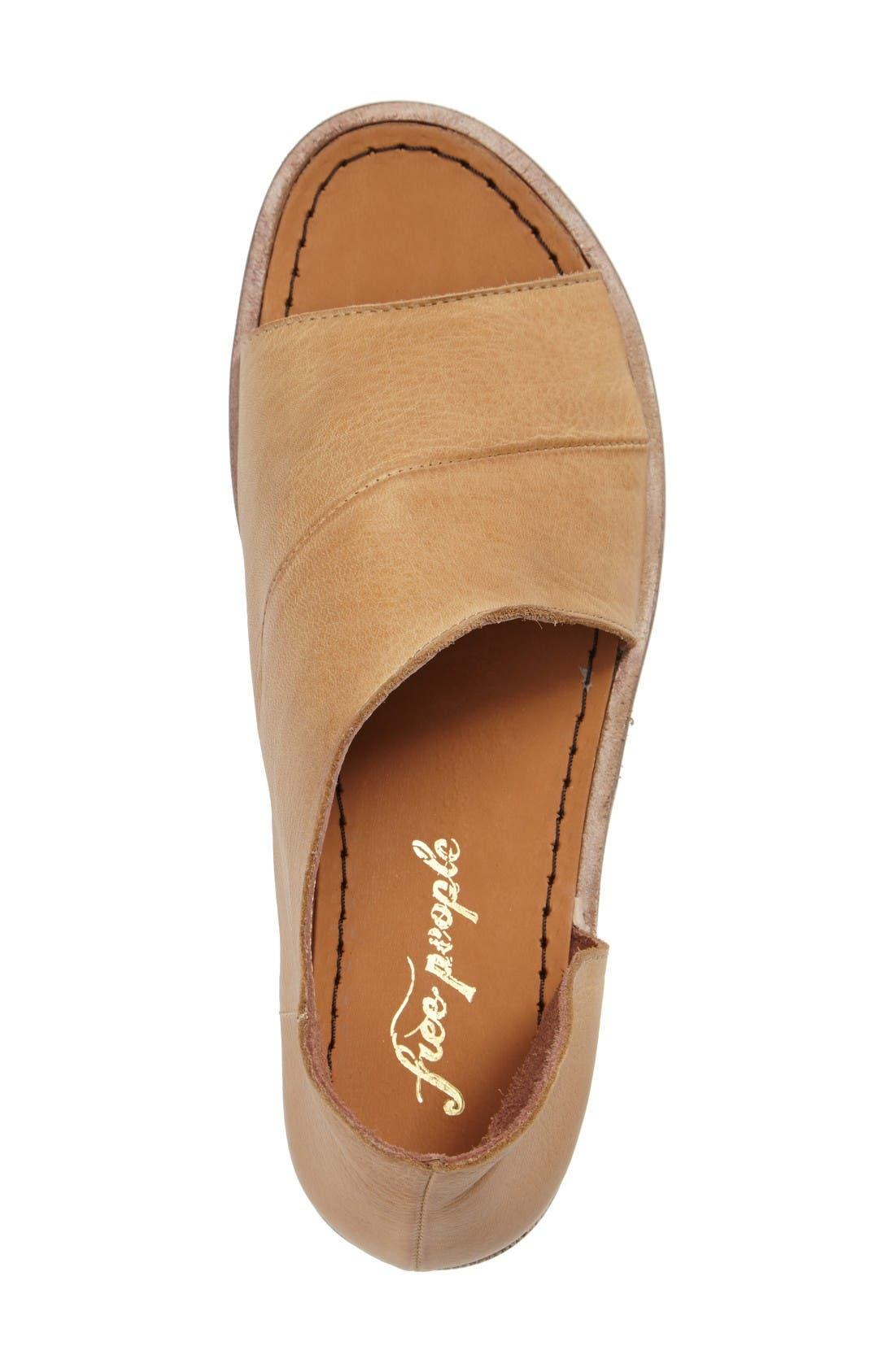 'Mont Blanc' Asymmetrical Sandal,                             Alternate thumbnail 3, color,                             Natural Leather