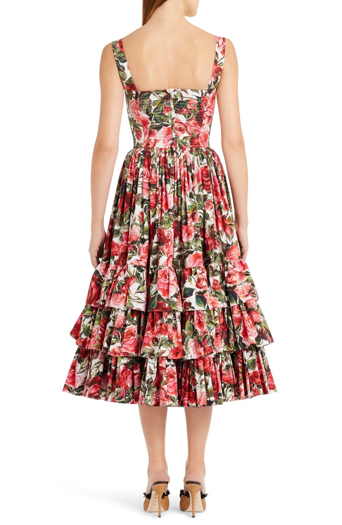 Alternate Image 2  - Dolce&Gabbana Floral Print Poplin Dress
