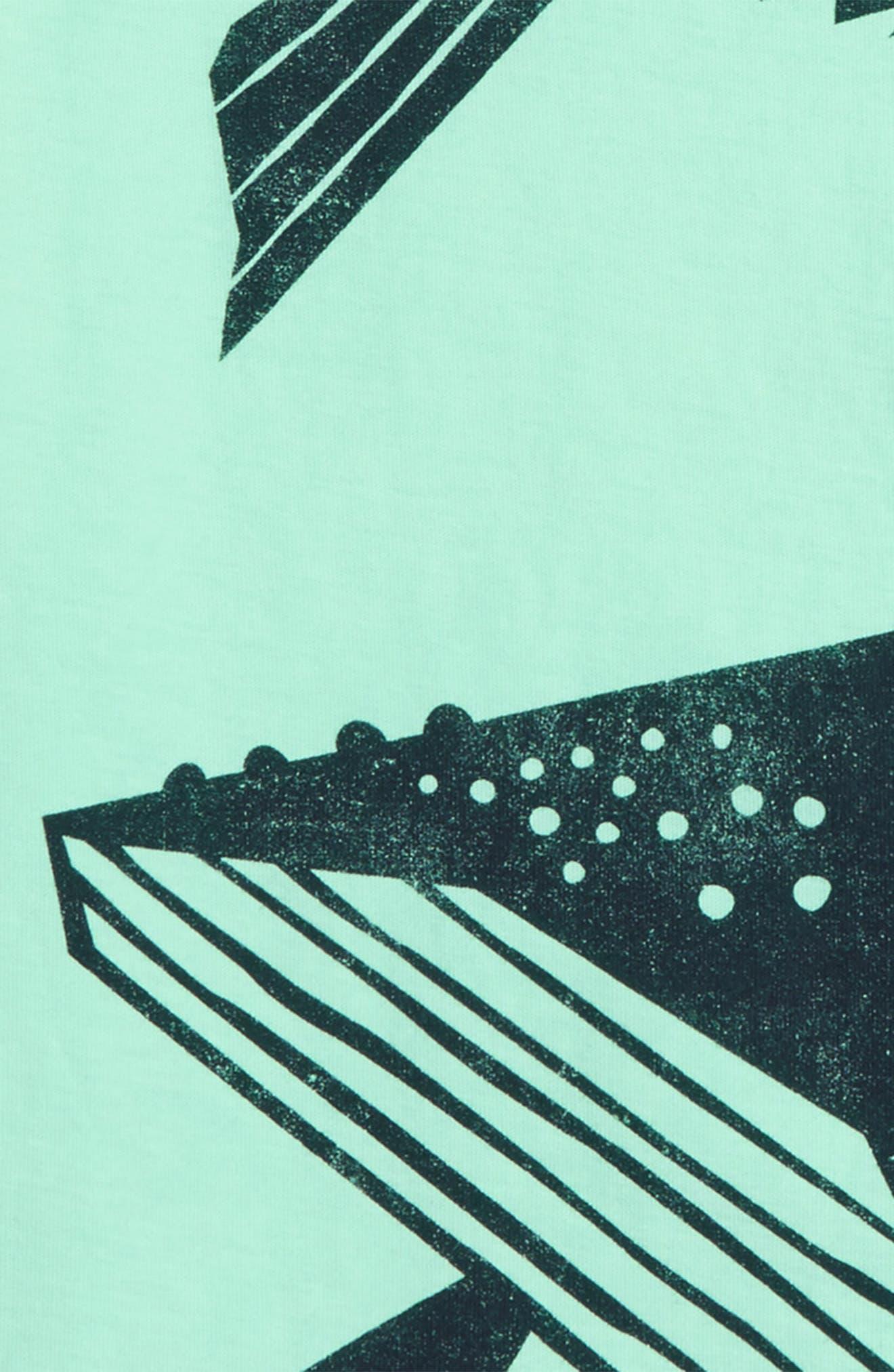 Whale Then Graphic T-Shirt,                             Alternate thumbnail 2, color,                             Mint Julep