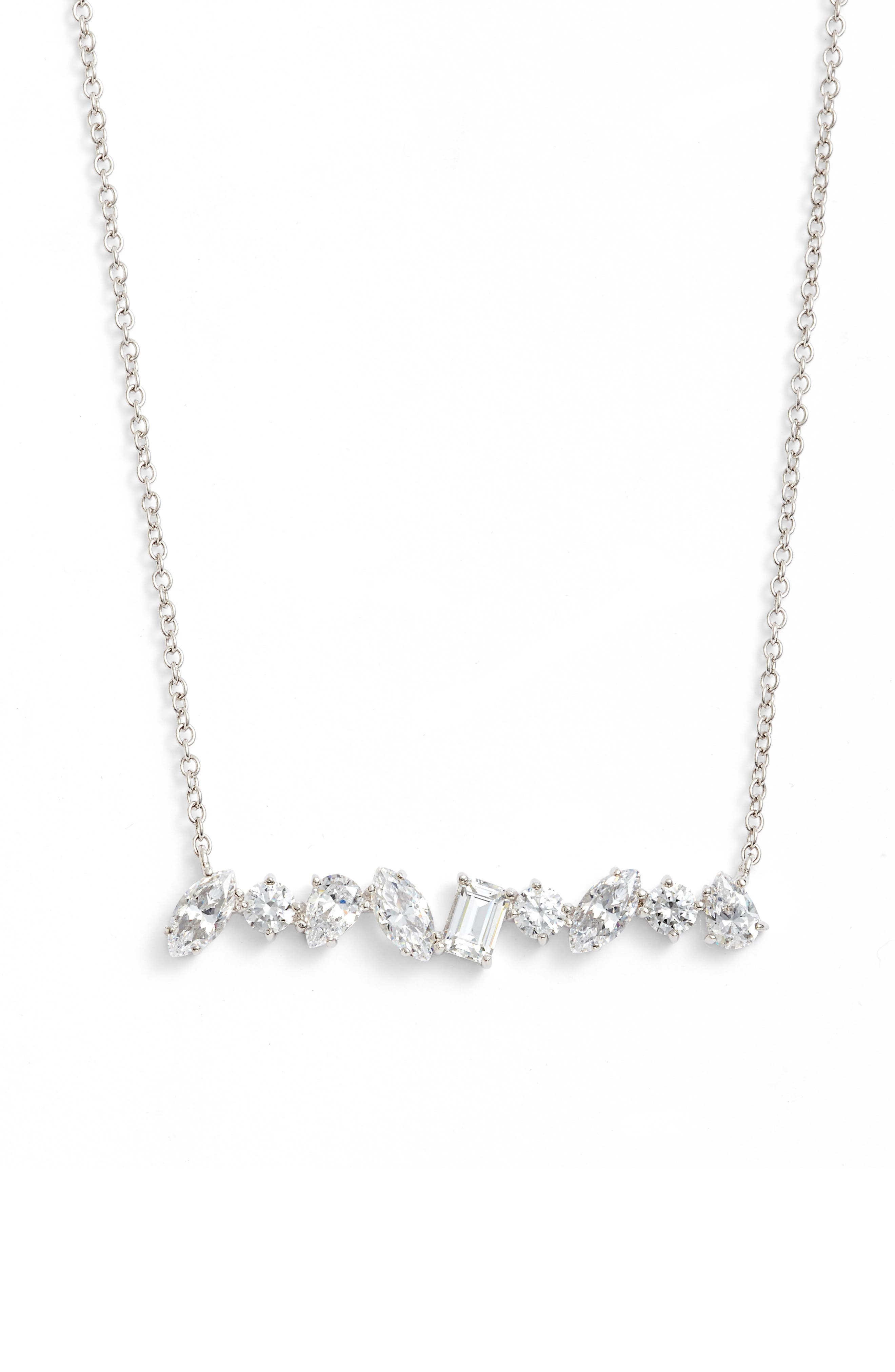 Main Image - CZ by Kenneth Jay Lane Scatter Bar Necklace