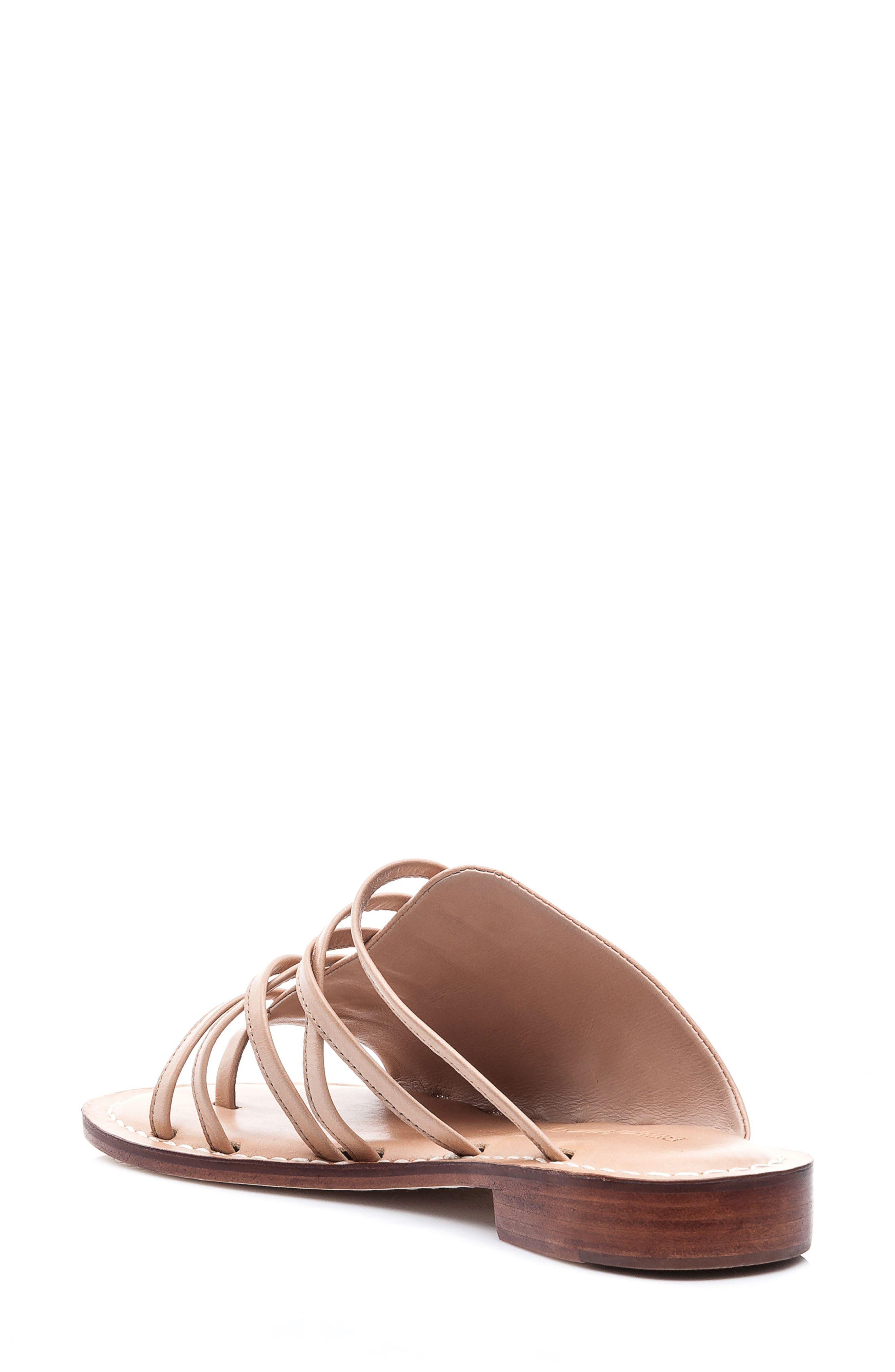 Bernardo Tori Slide Sandal,                             Alternate thumbnail 2, color,                             Light Camel Leather