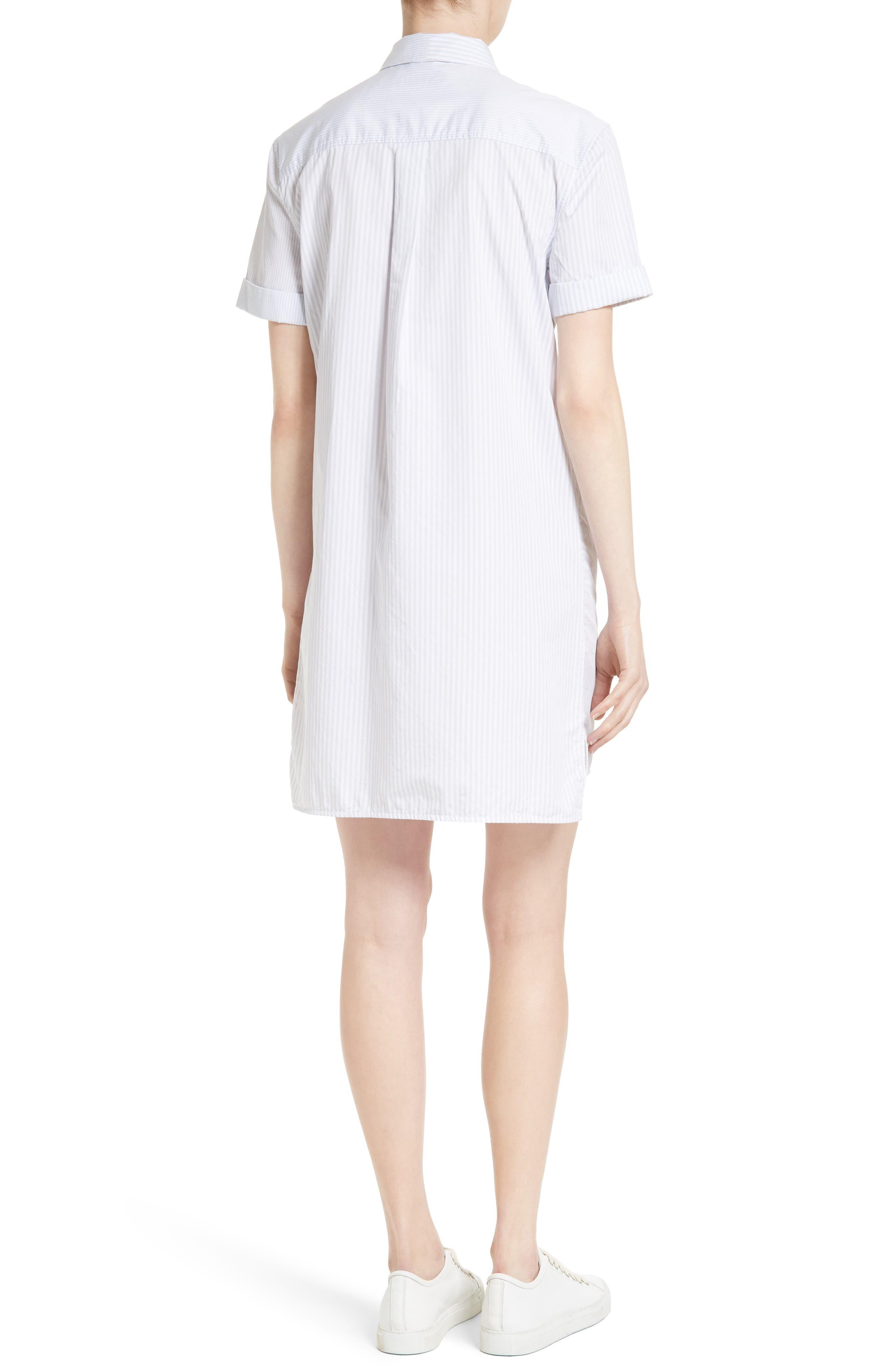 Mirelle Stripe Cotton Shirtdress,                             Alternate thumbnail 2, color,                             Bt Wht-Bri