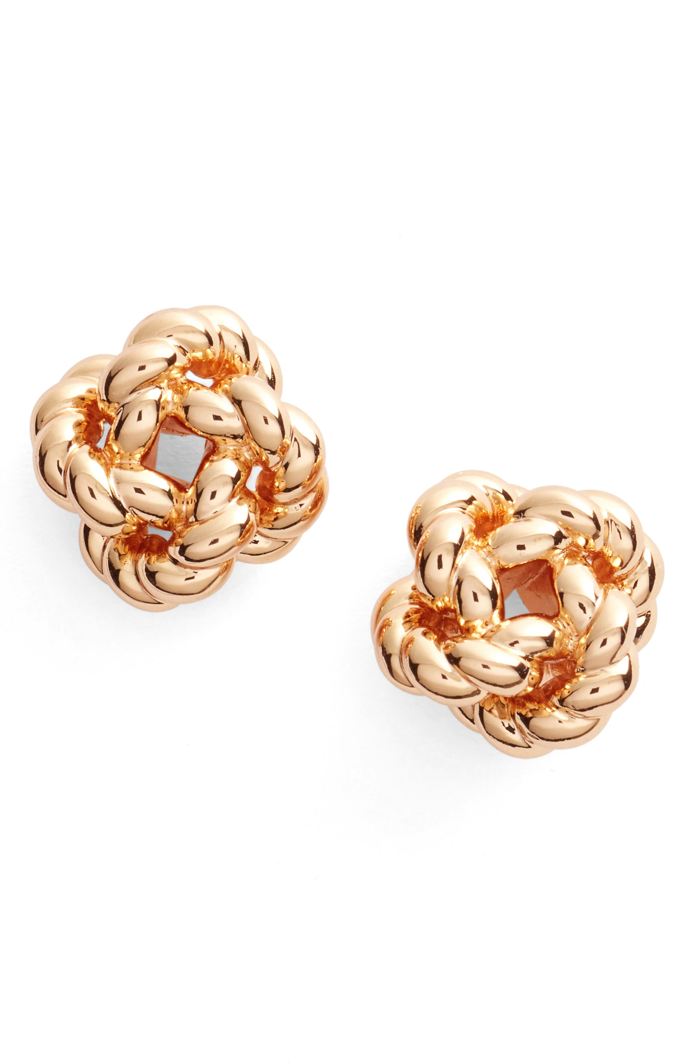 Alternate Image 1 Selected - Tory Burch Rope Knot Stud Earrings