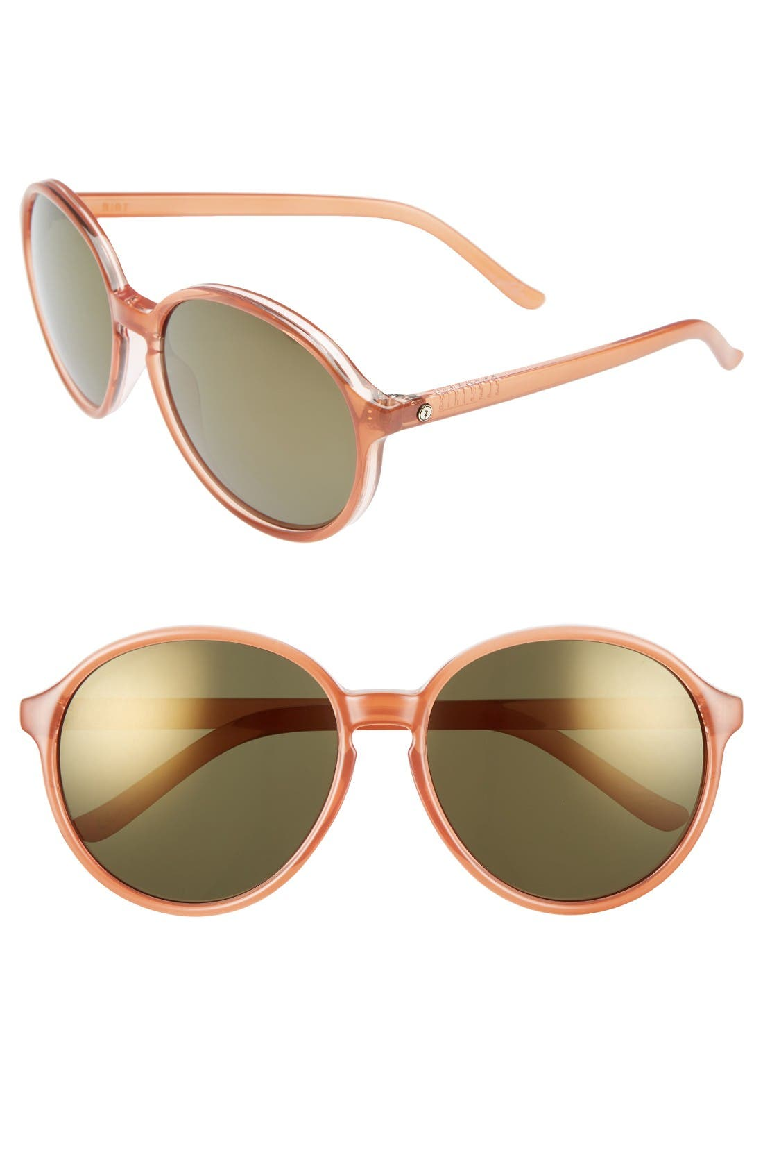 'Riot' 58mm Round Sunglasses,                             Main thumbnail 1, color,                             Calafia Rose/ Bronze Champagne