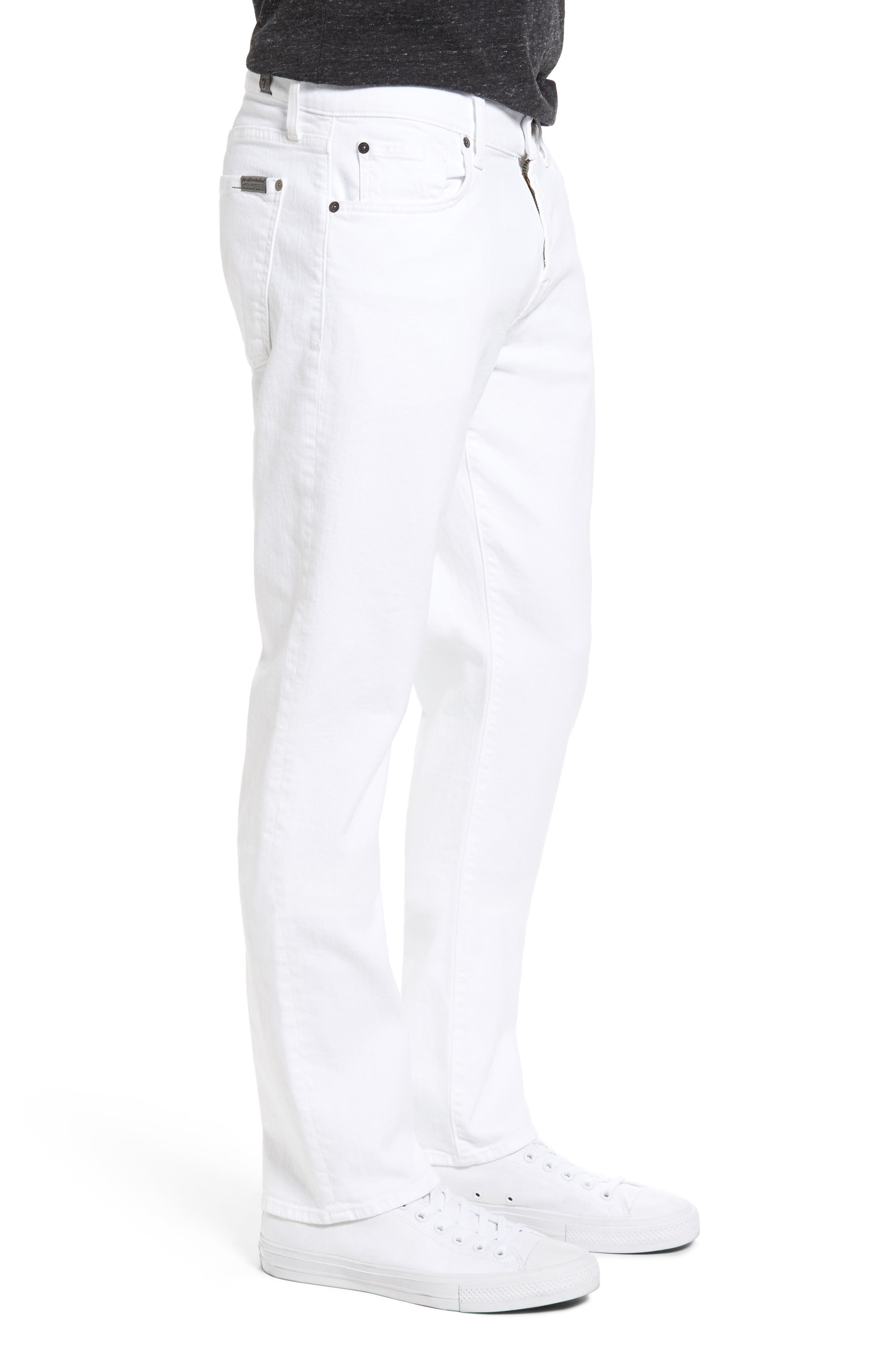 Luxe Performance - Slimmy Slim Fit Jeans,                             Alternate thumbnail 3, color,                             White