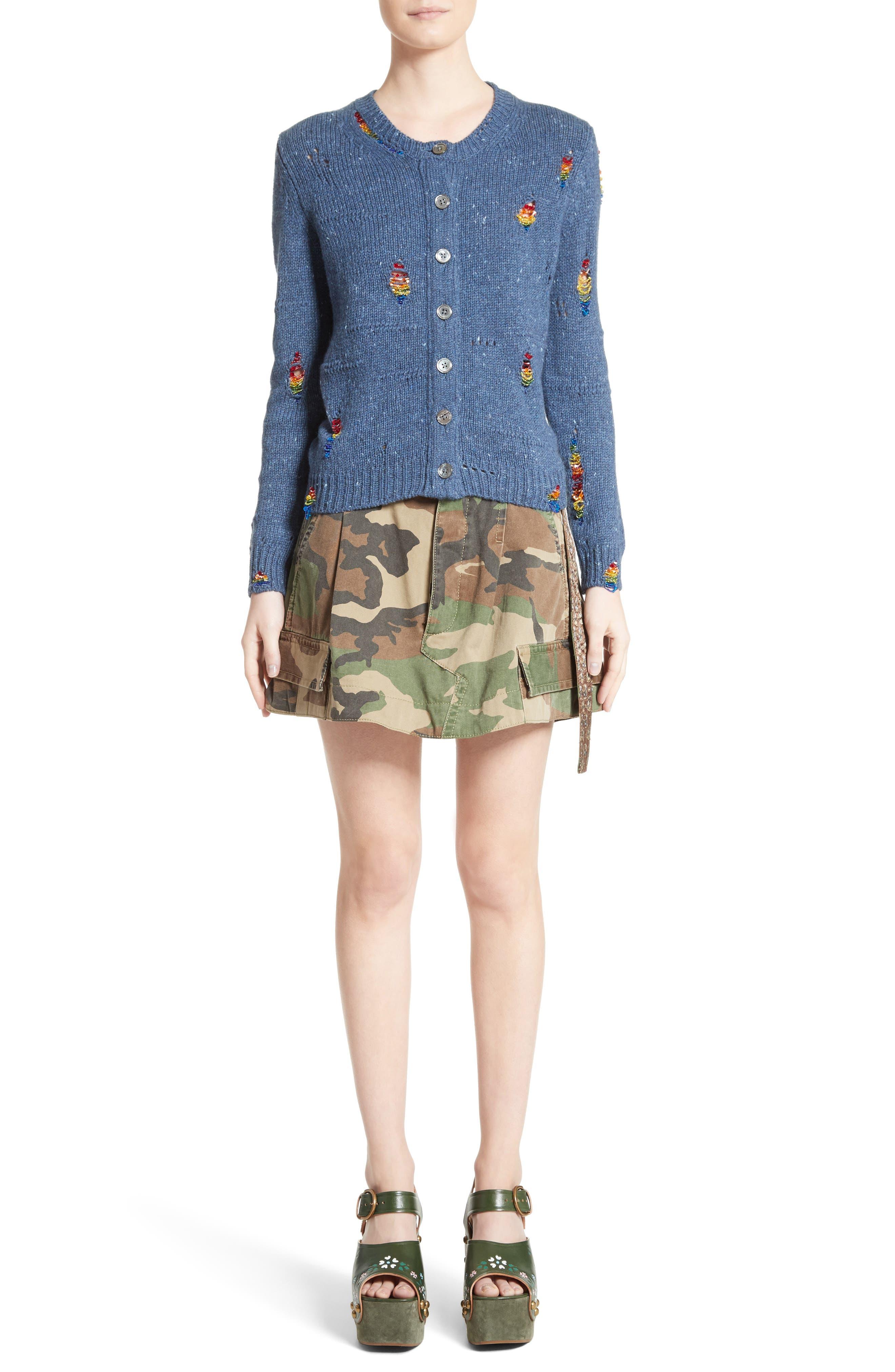Alternate Image 10  - MARC JACOBS Camo Print Cargo Miniskirt