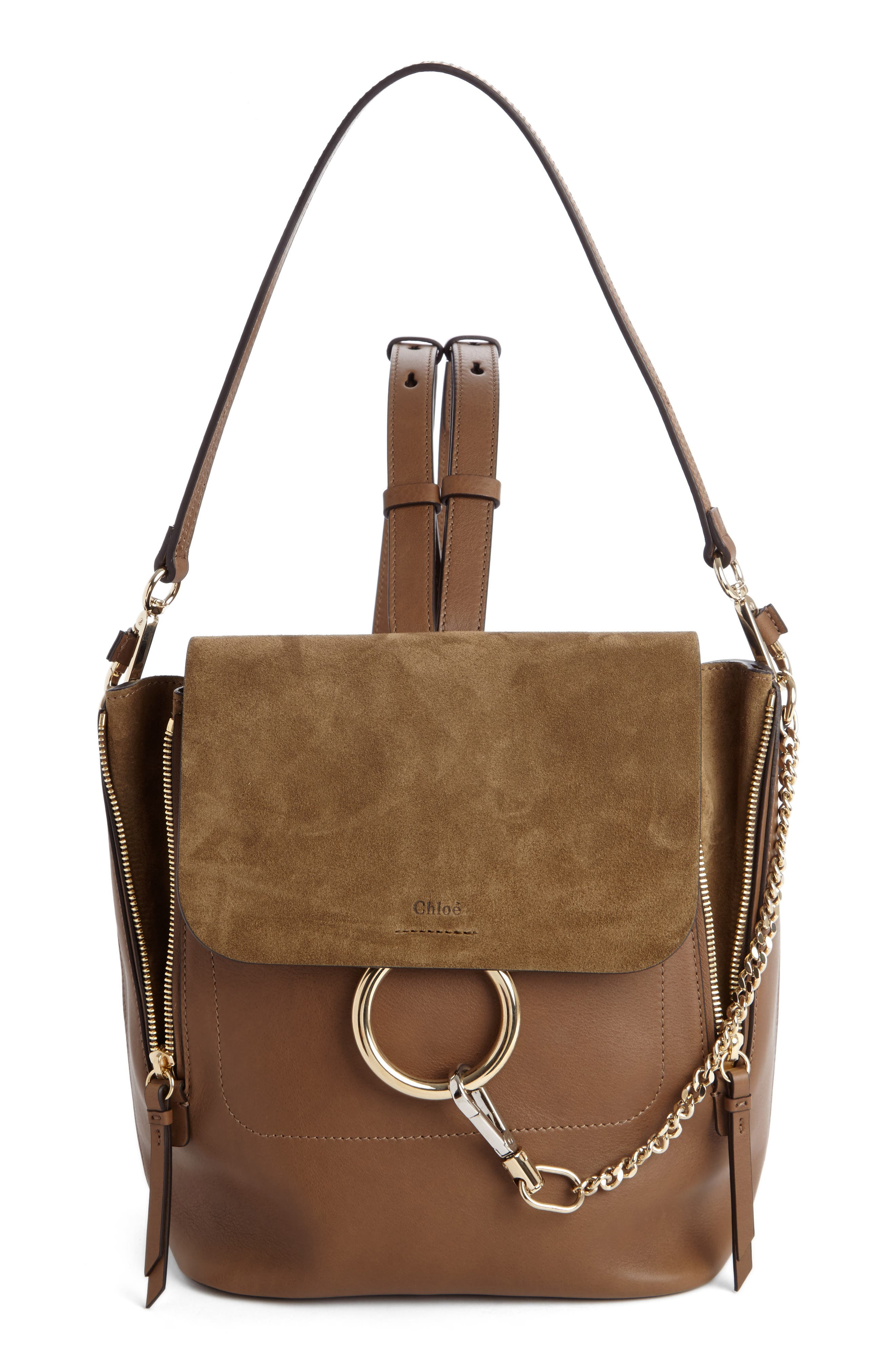 Main Image - Chloé Medium Faye Suede & Leather Backpack