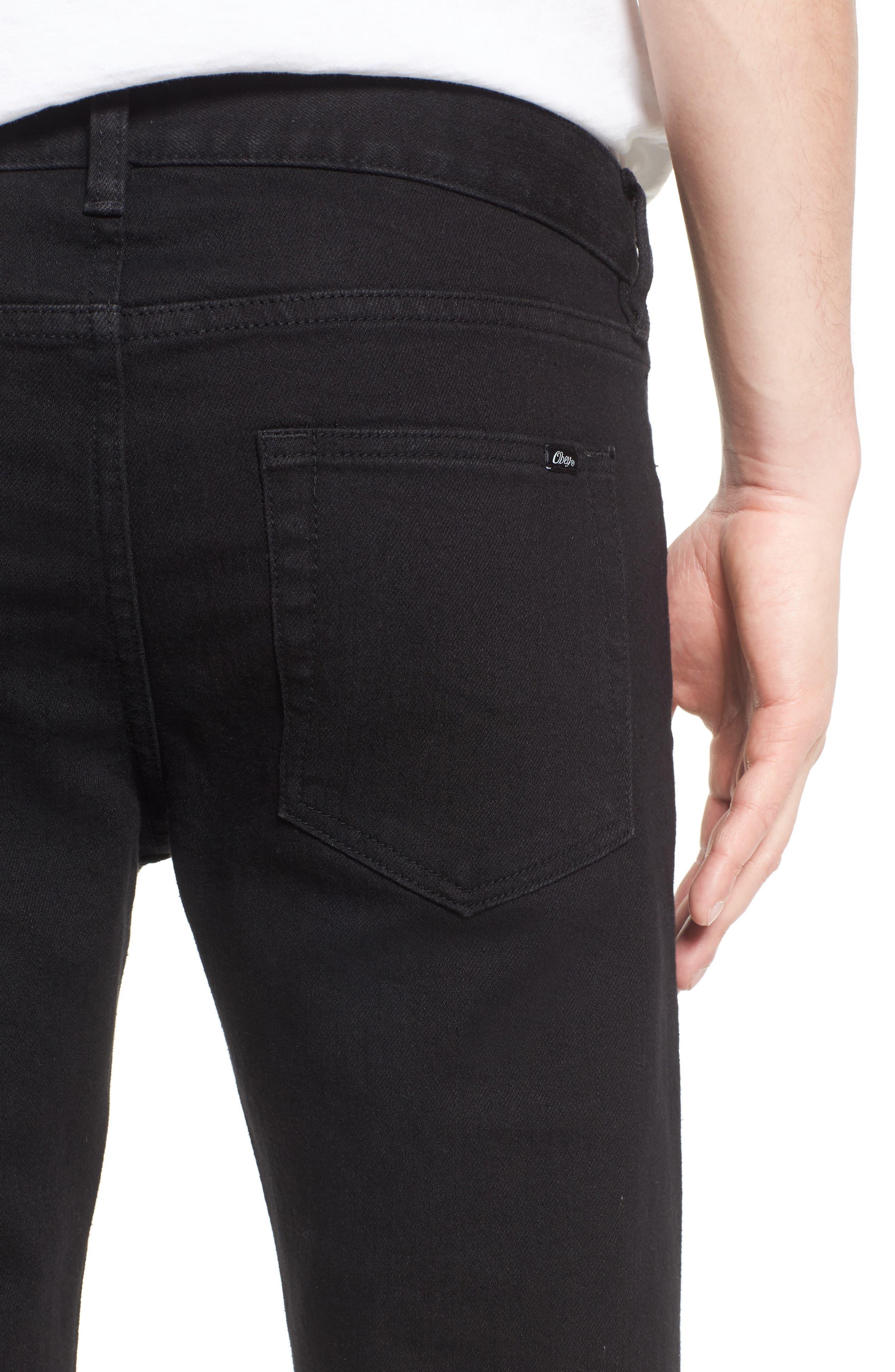 Juvee II Skinny Fit Jeans,                             Alternate thumbnail 4, color,                             Black