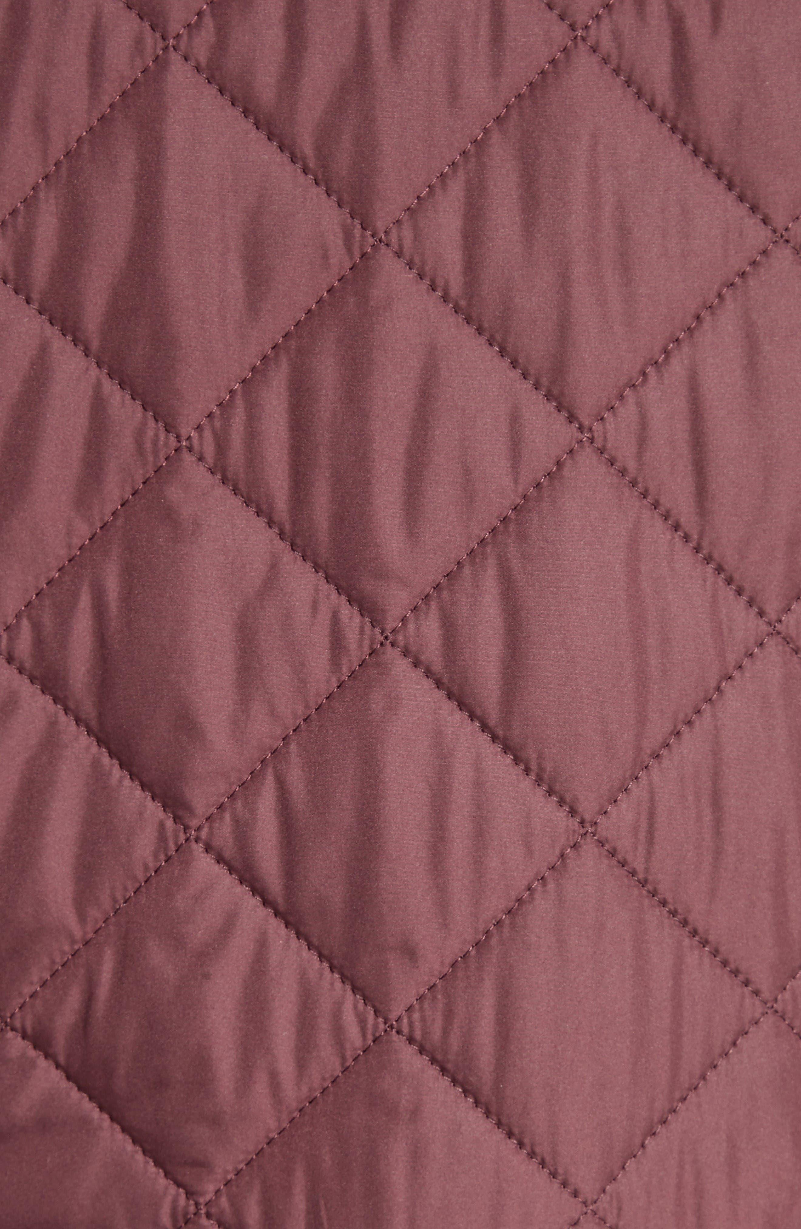 Westbridge Quilted Jacket,                             Alternate thumbnail 3, color,                             Burgundy