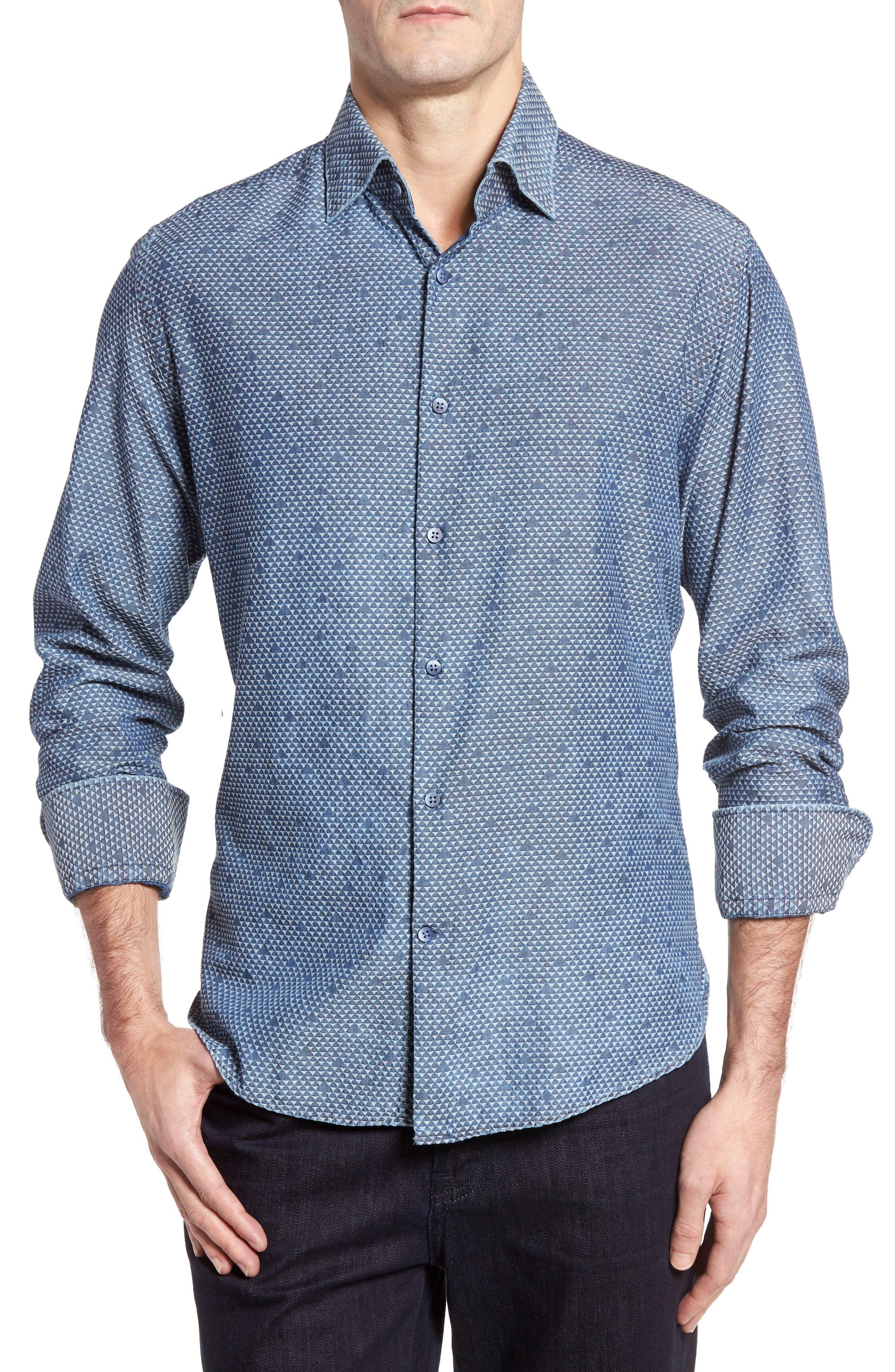 Main Image - Stone Rose Triangle Jacquard Sport Shirt