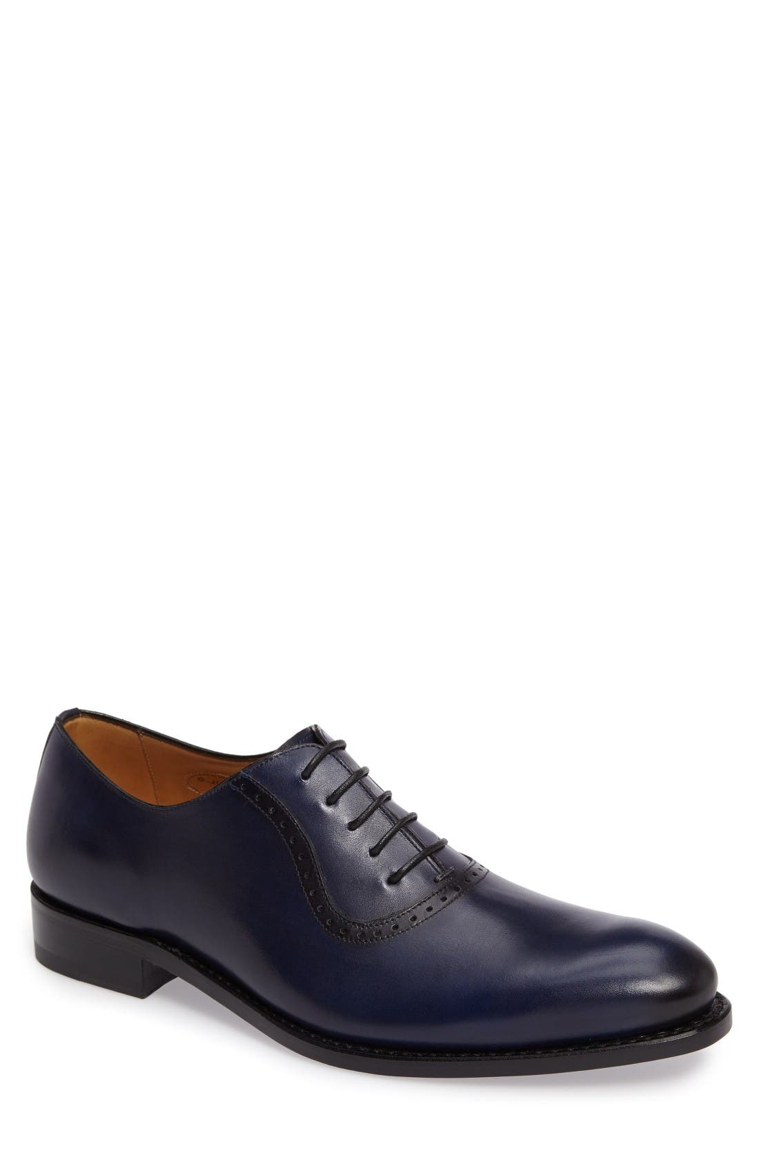 by Mezlan G105 Plain Toe Oxford,                             Main thumbnail 1, color,                             Blue