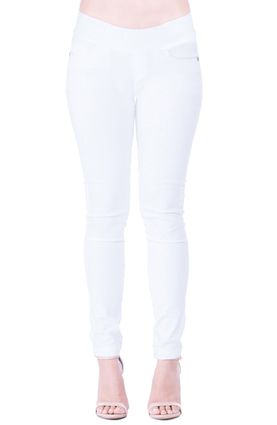 'Geni' Maternity Skinny Jeans,                         Main,                         color, White