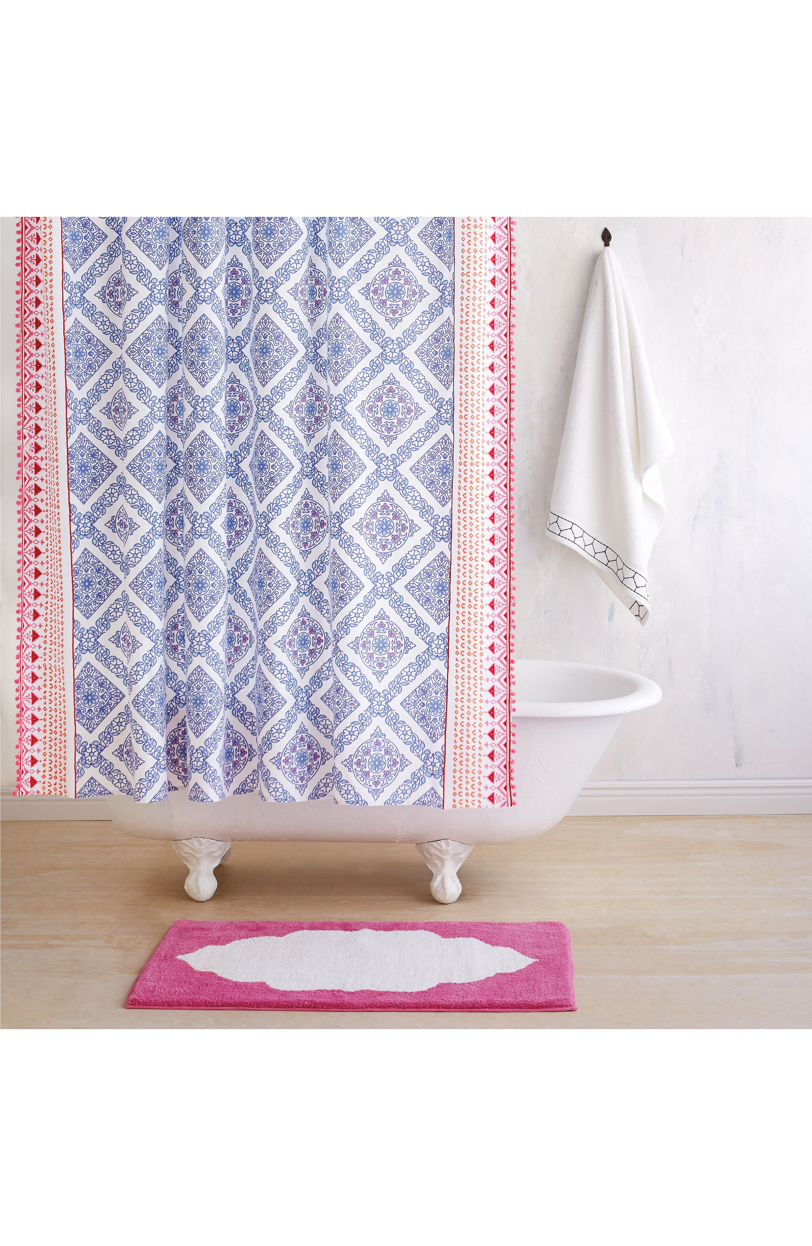 Mitta Shower Curtain,                             Main thumbnail 1, color,                             Periwinkle
