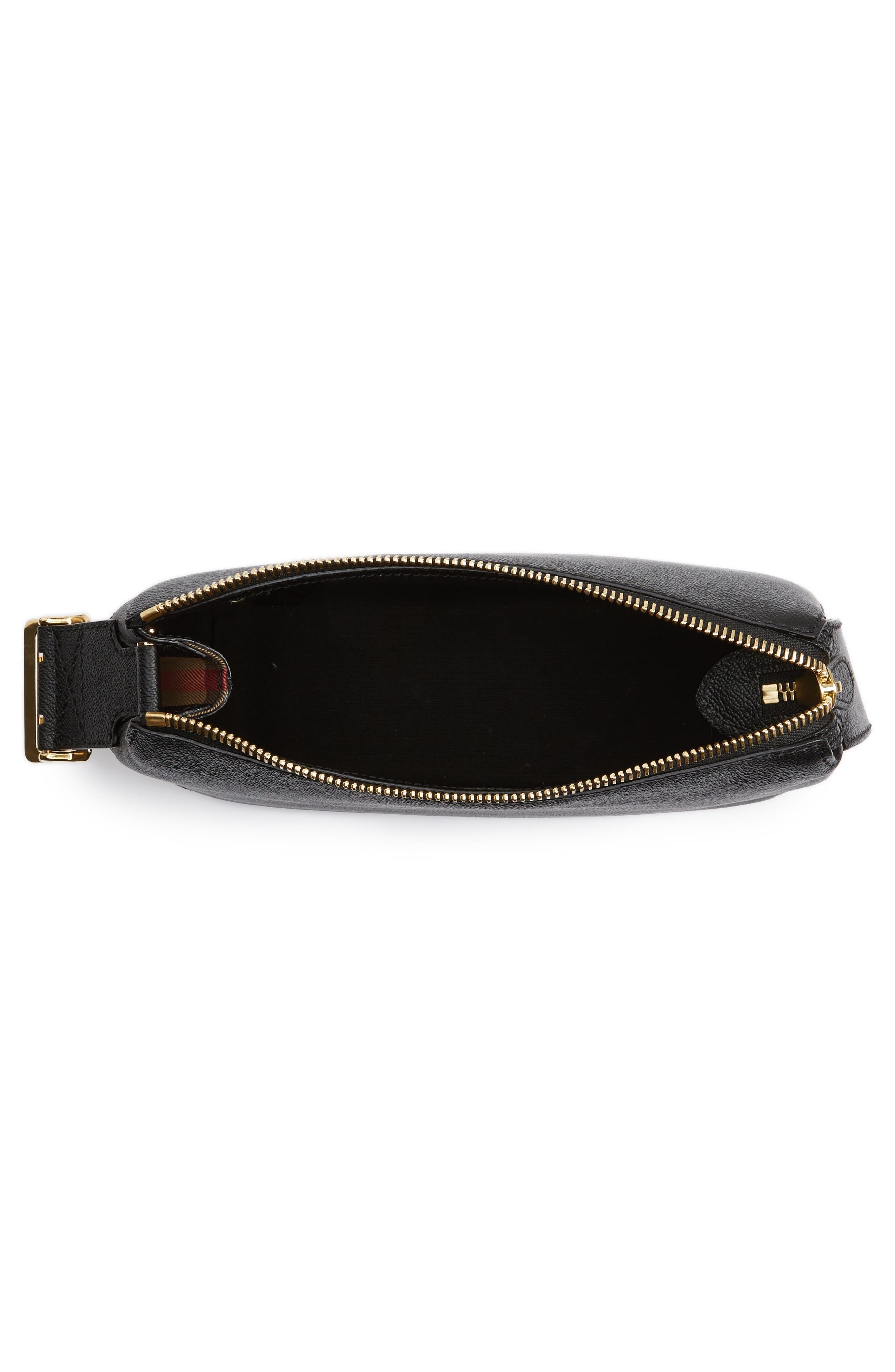 Alternate Image 4  - Burberry Helmsley House Check Leather Crossbody Bag
