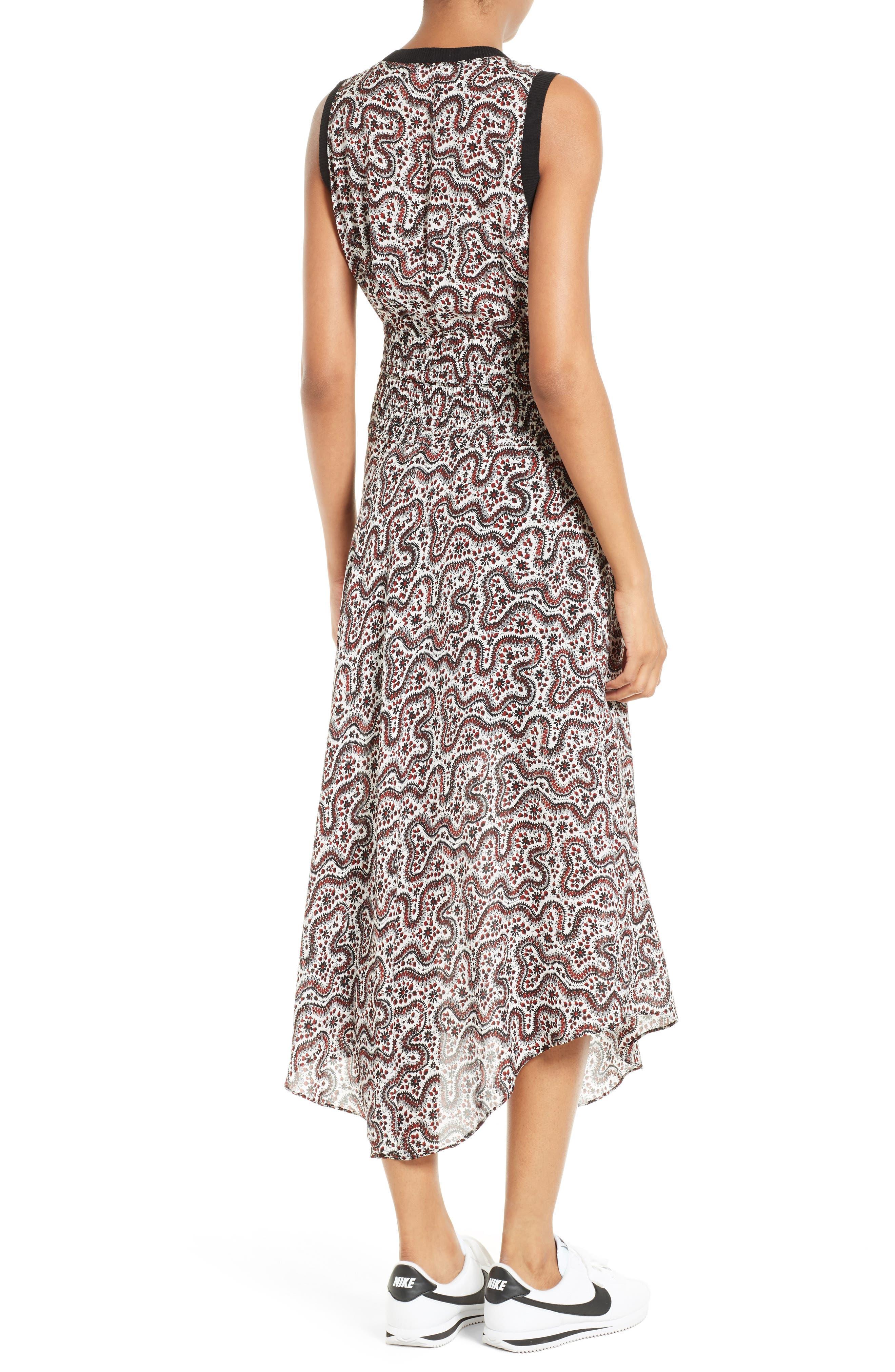Alternate Image 3  - A.L.C. Sandra Cutout Silk Midi Dress
